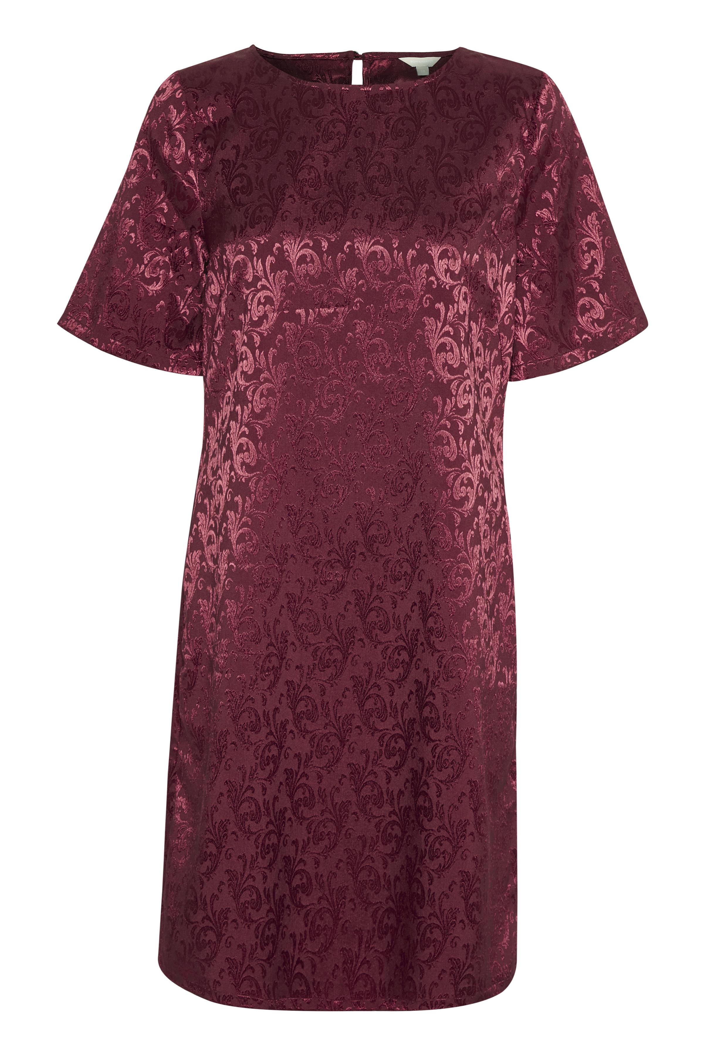 BonA Parte Dame Letvævet kjole - Mørkerød