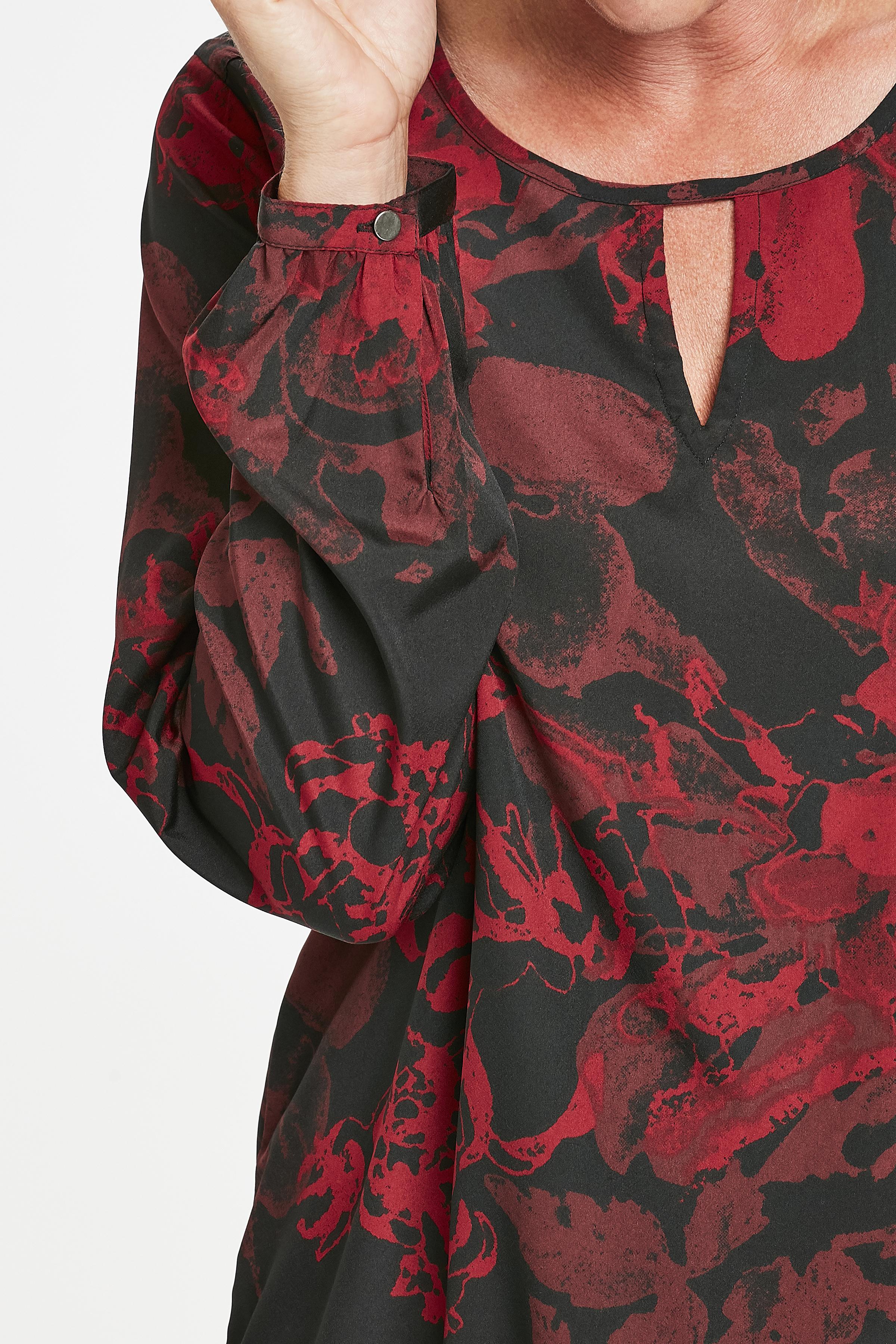 Mørkerød Langærmet bluse fra Kaffe – Køb Mørkerød Langærmet bluse fra str. 34-46 her