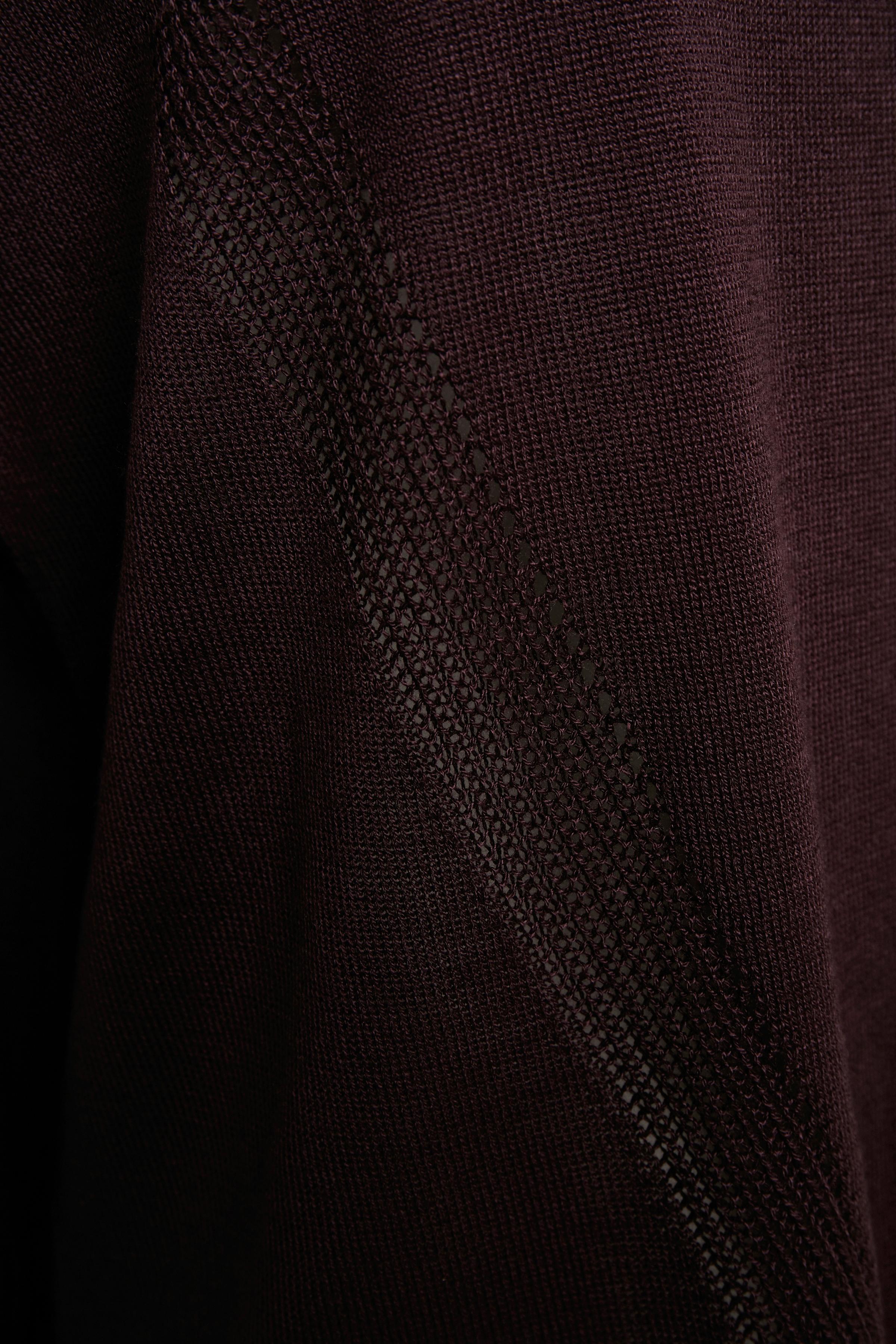 Mörk aubergine Stickad pullover från Bon'A Parte – Köp Mörk aubergine Stickad pullover från stl. S-2XL här