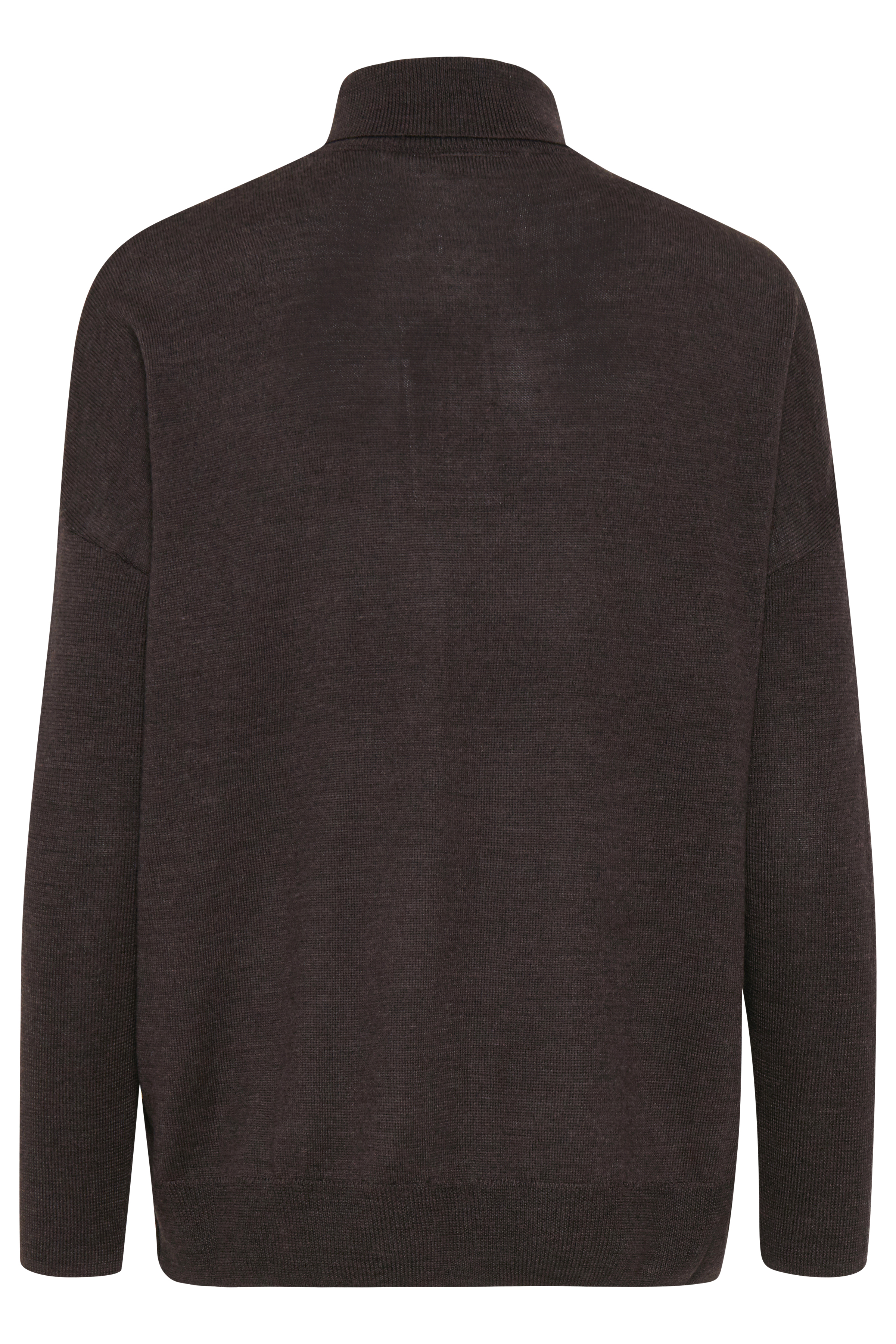 Mörk brunmelerad Stickad pullover från Fransa – Köp Mörk brunmelerad Stickad pullover från stl. S/M-L/XL här