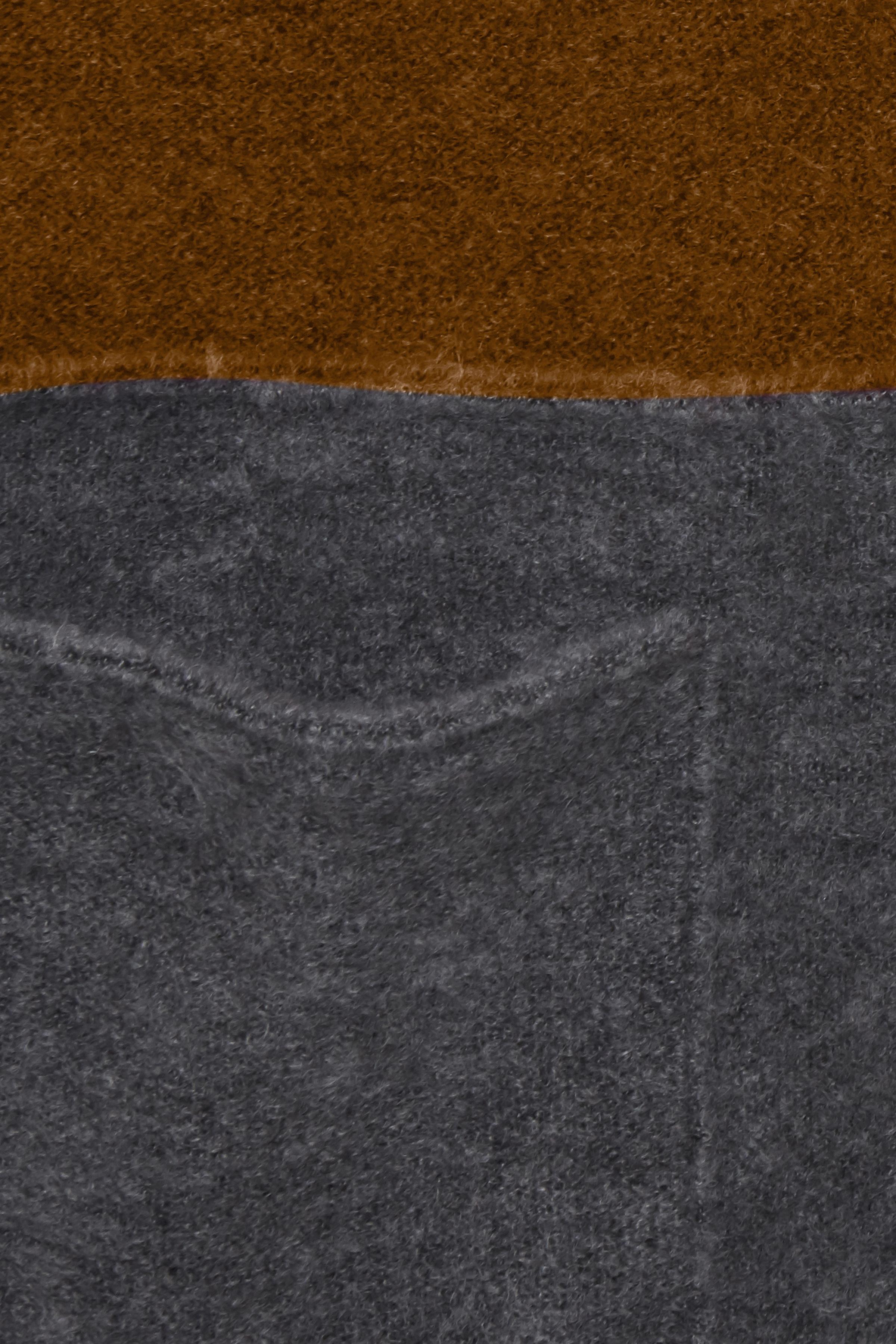 Mörk curry/mörkgrå Stickad cardigan från Fransa – Köp Mörk curry/mörkgrå Stickad cardigan från stl. XS-XXL här