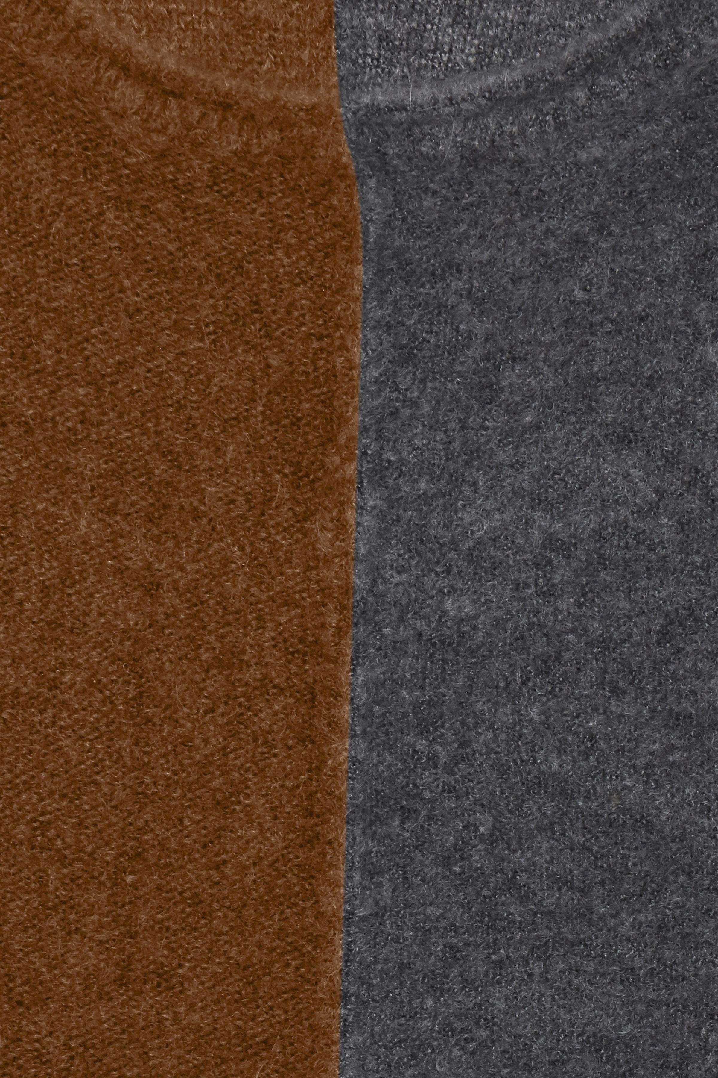 Mörk curry/mörkgrå Stickad pullover från Fransa – Köp Mörk curry/mörkgrå Stickad pullover från stl. XS-XXL här