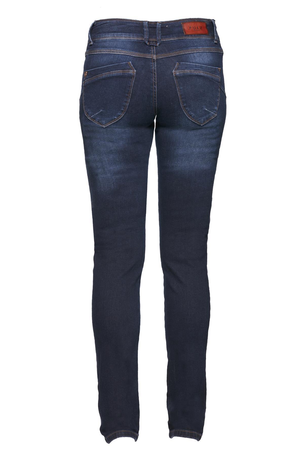 Mörk denimblå Jeans från Pulz Jeans – Köp Mörk denimblå Jeans från stl. 25-35 här