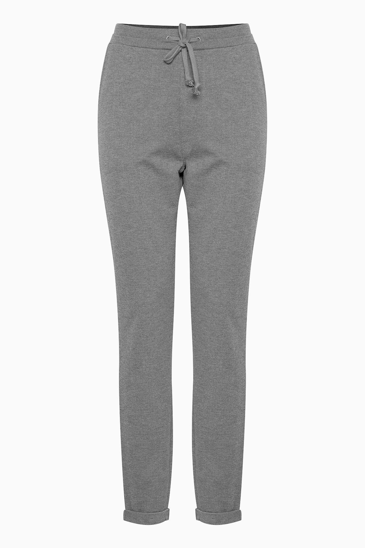 Mörk gråmelerad Casual byxor från Fransa – Köp Mörk gråmelerad Casual byxor från stl. XS-XXL här