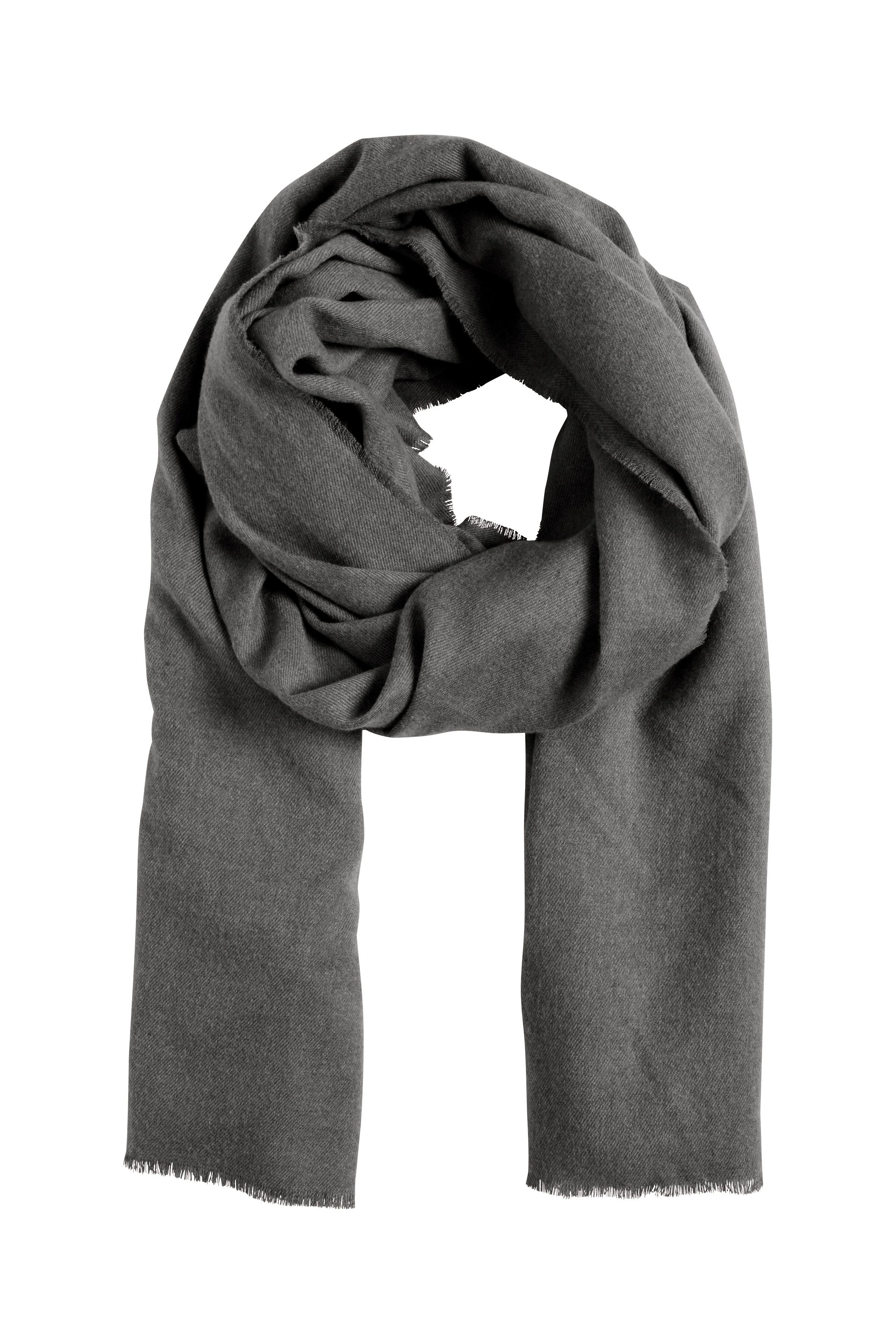 Mörk gråmelerad Scarf från Ichi - accessories – Köp Mörk gråmelerad Scarf från stl. ONE här