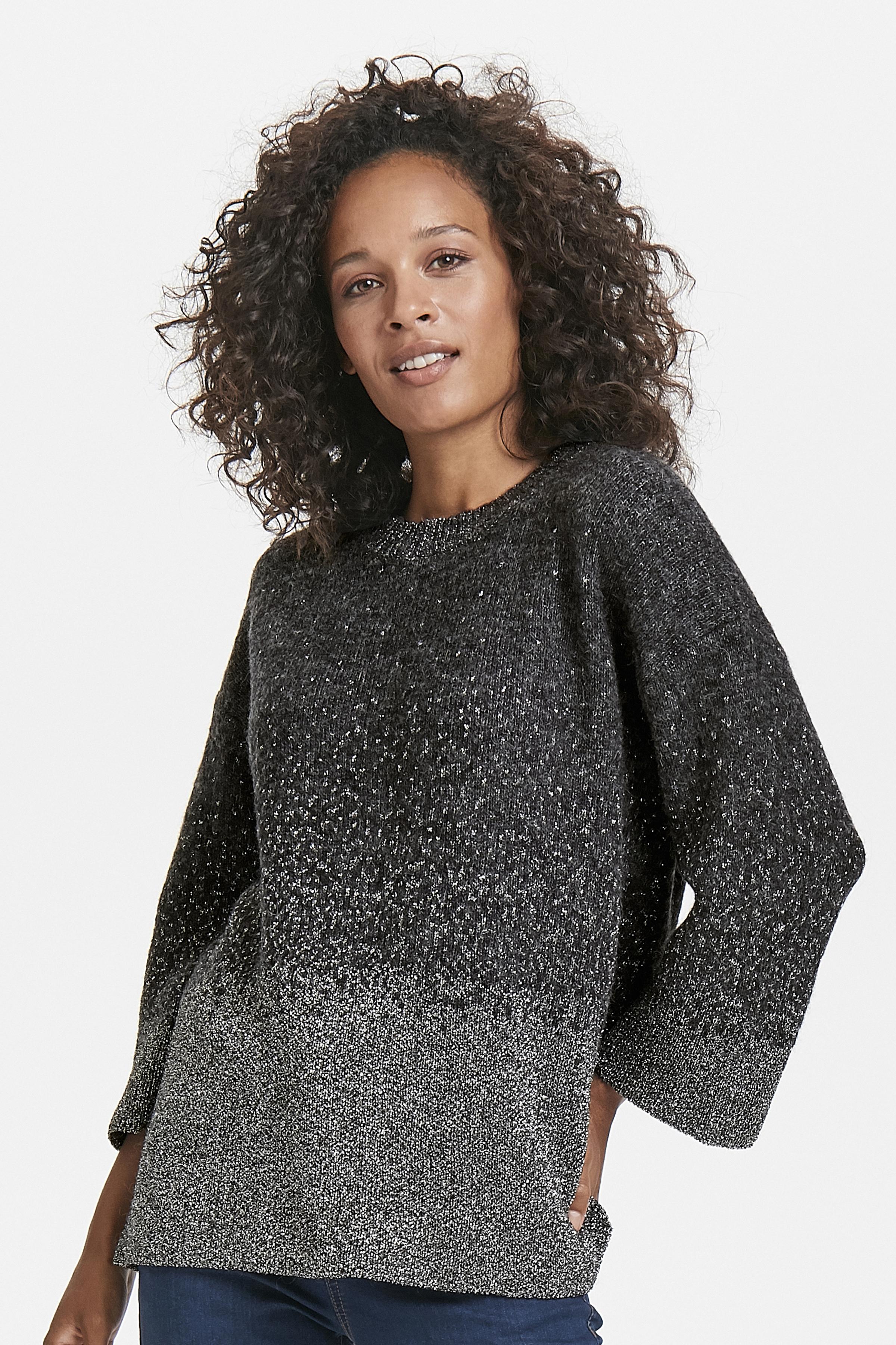 Mörk gråmelerad/silver Stickad pullover från Kaffe – Köp Mörk gråmelerad/silver Stickad pullover från stl. XS-XXL här
