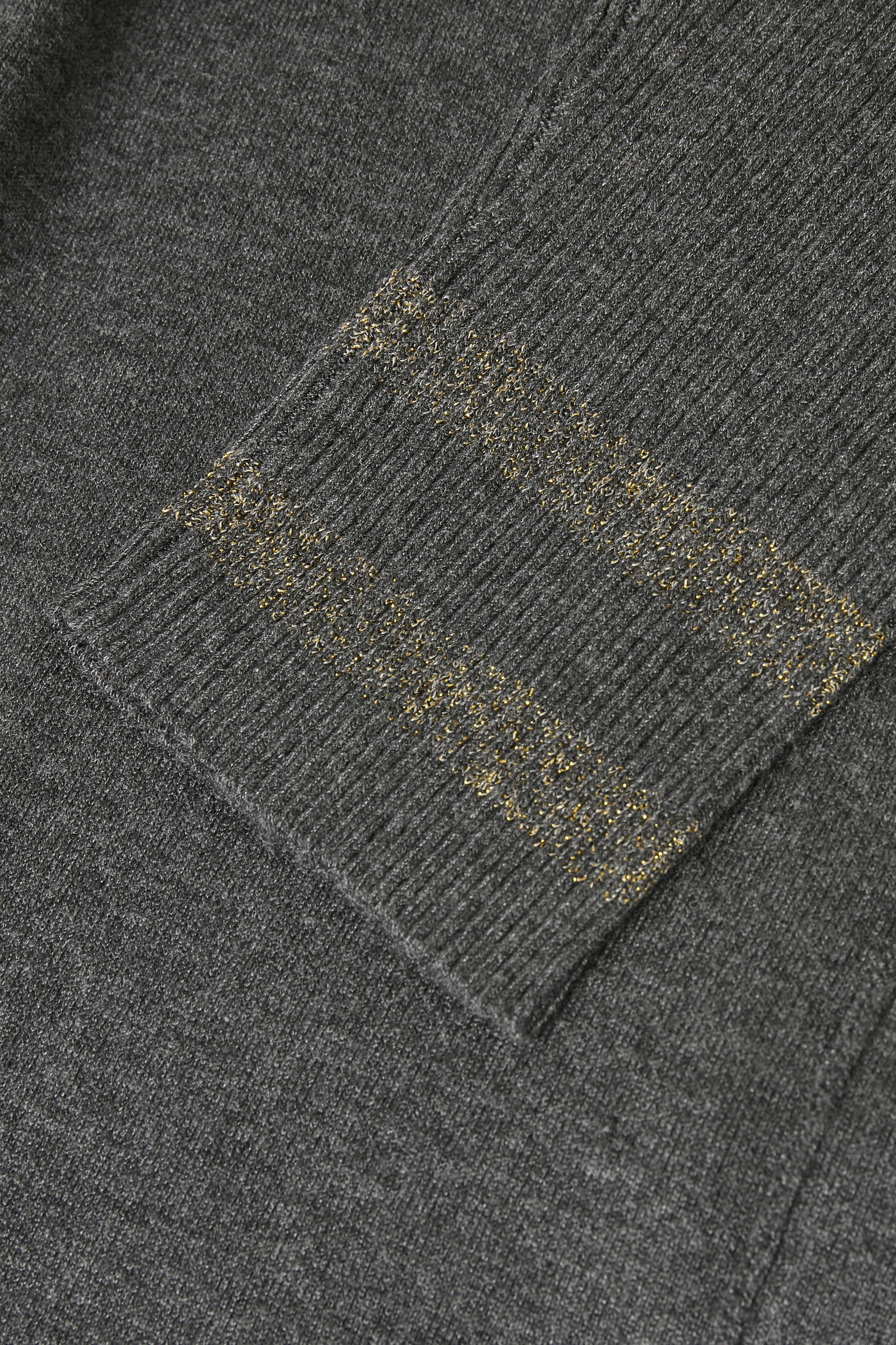 Mörk gråmelerad Stickad tunika från Bon'A Parte – Köp Mörk gråmelerad Stickad tunika från stl. S-2XL här