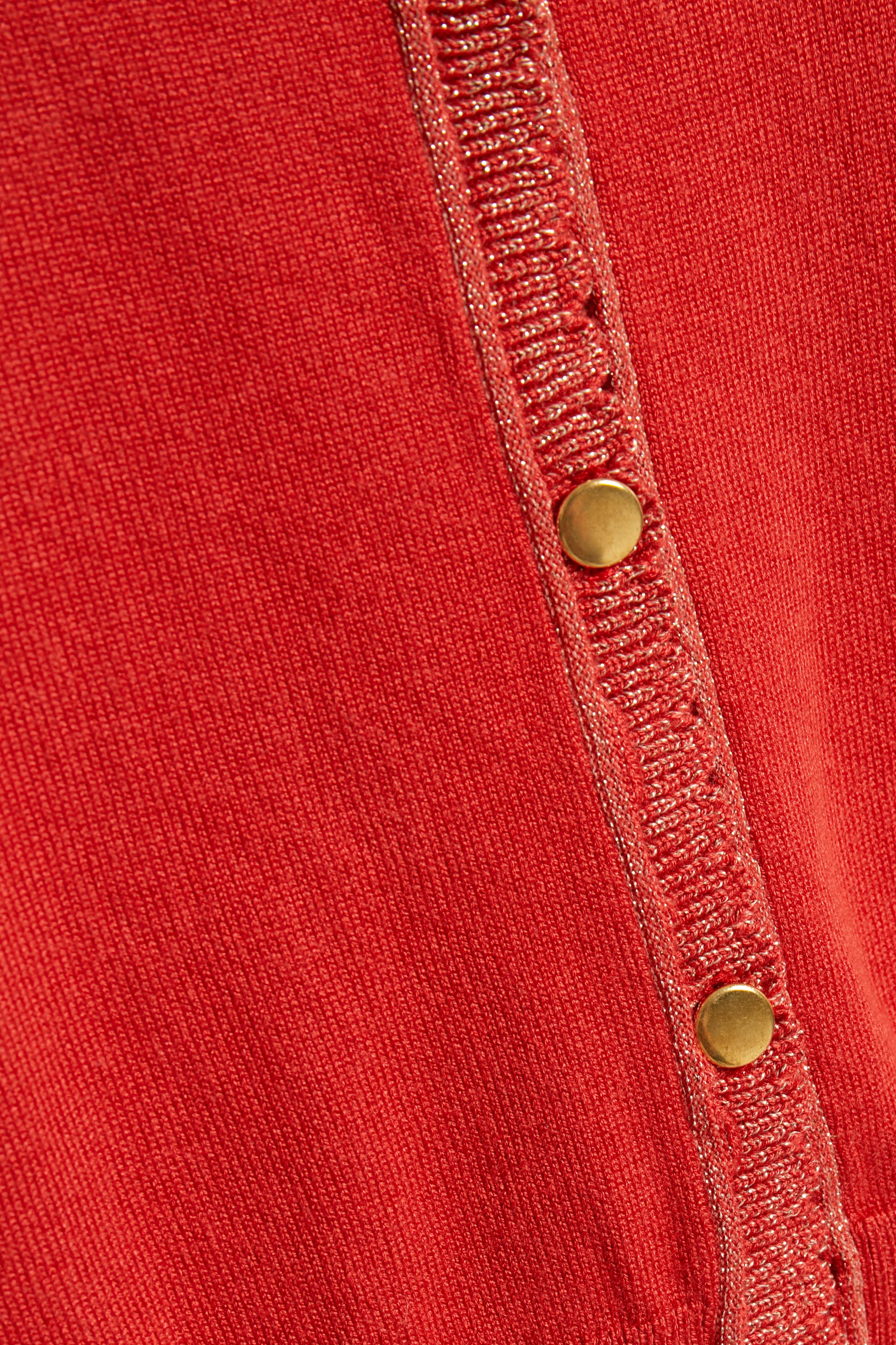 Mörk orange Stickad cardigan från Cream – Köp Mörk orange Stickad cardigan från stl. XS-XXL här