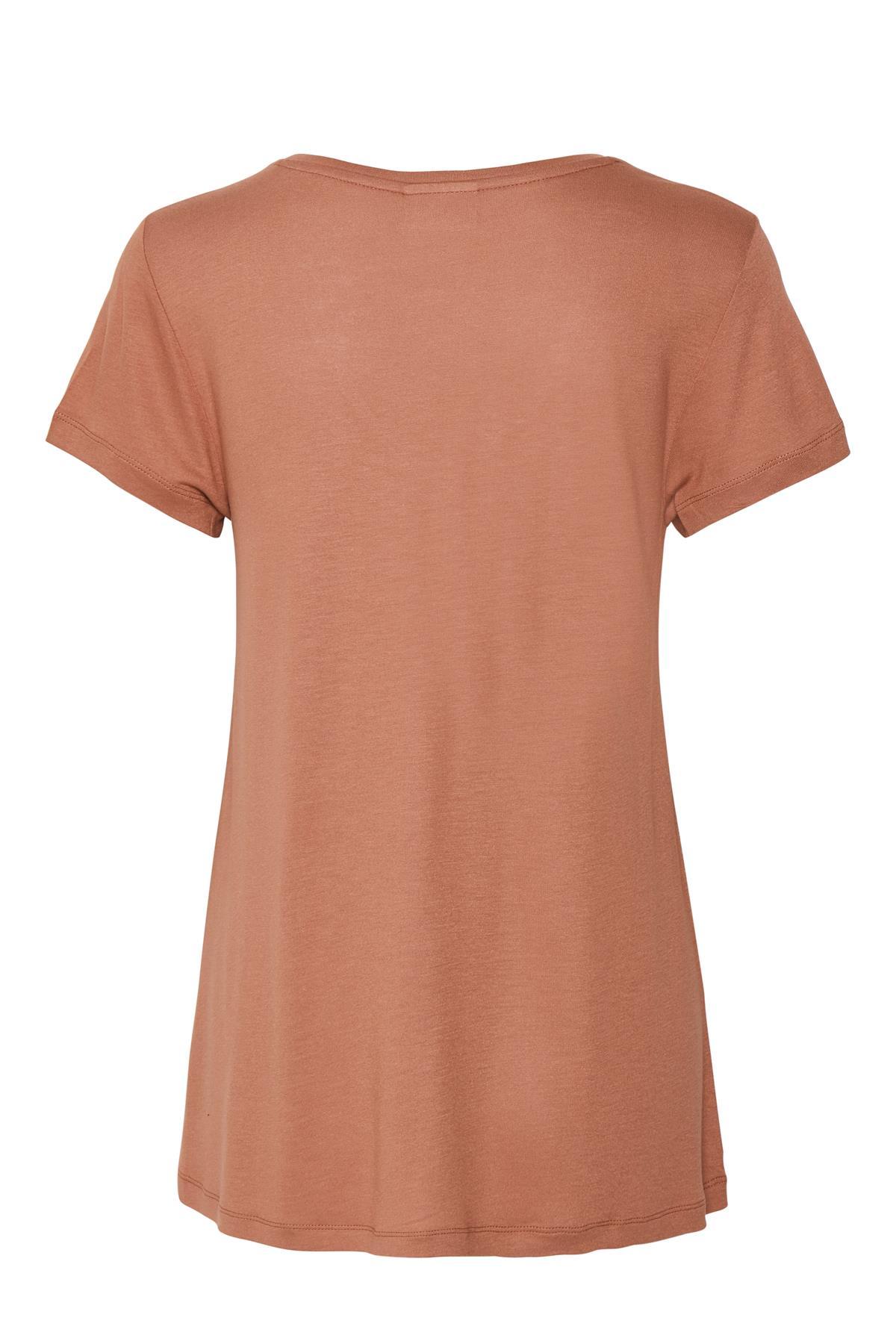 Mörk rosa Kortärmad T-shirt från Kaffe – Köp Mörk rosa Kortärmad T-shirt från stl. XS-XXL här