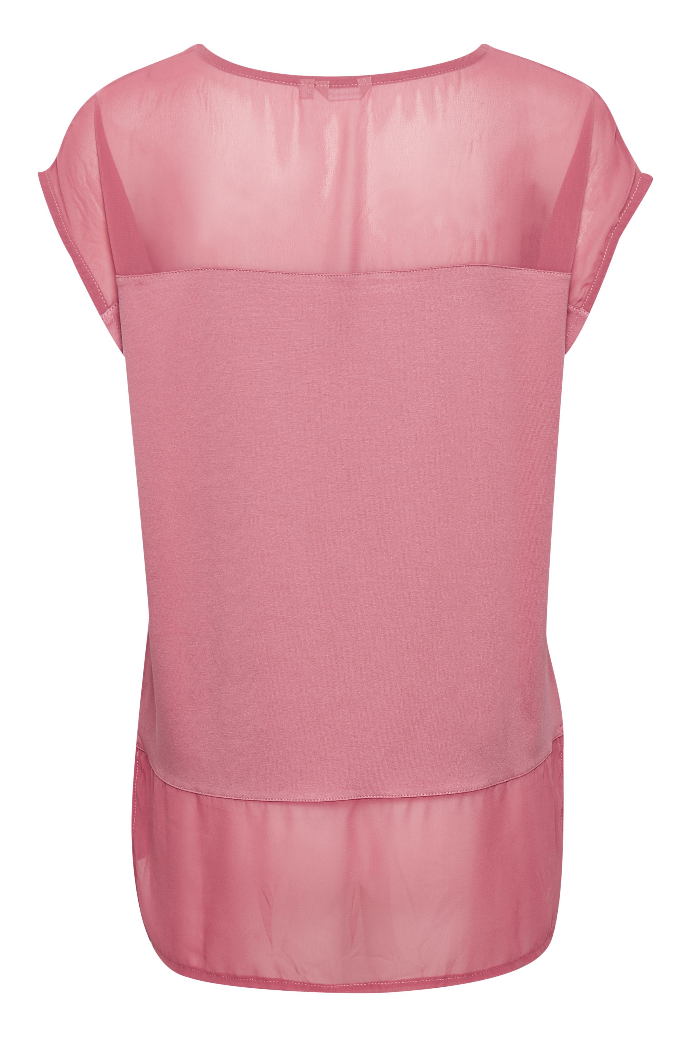 Mörk rosa Kortärmad T-shirt från Bon'A Parte – Köp Mörk rosa Kortärmad T-shirt från stl. S-2XL här