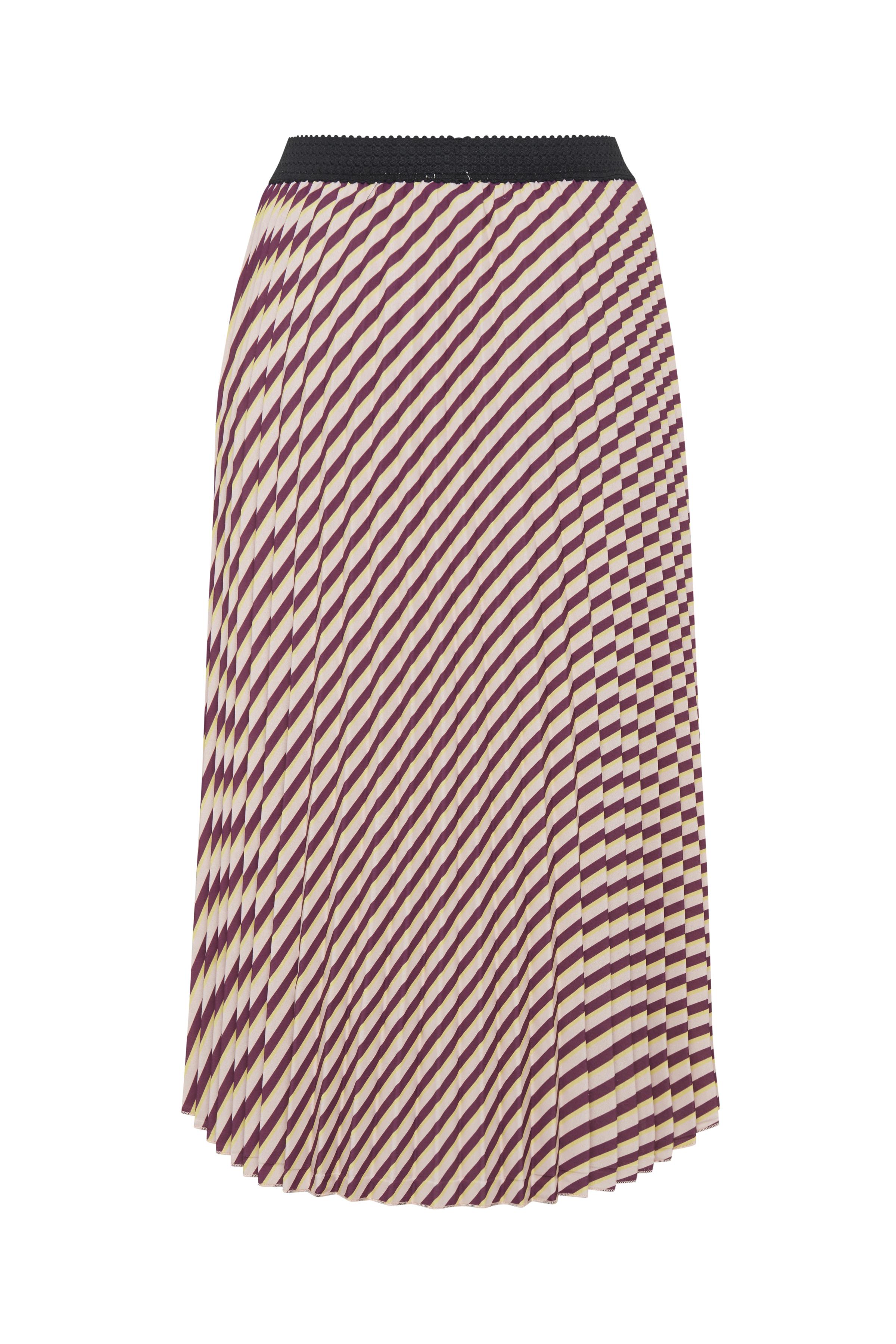 Mörk rosa/off-white Kjol från b.young – Köp Mörk rosa/off-white Kjol från stl. 34-46 här