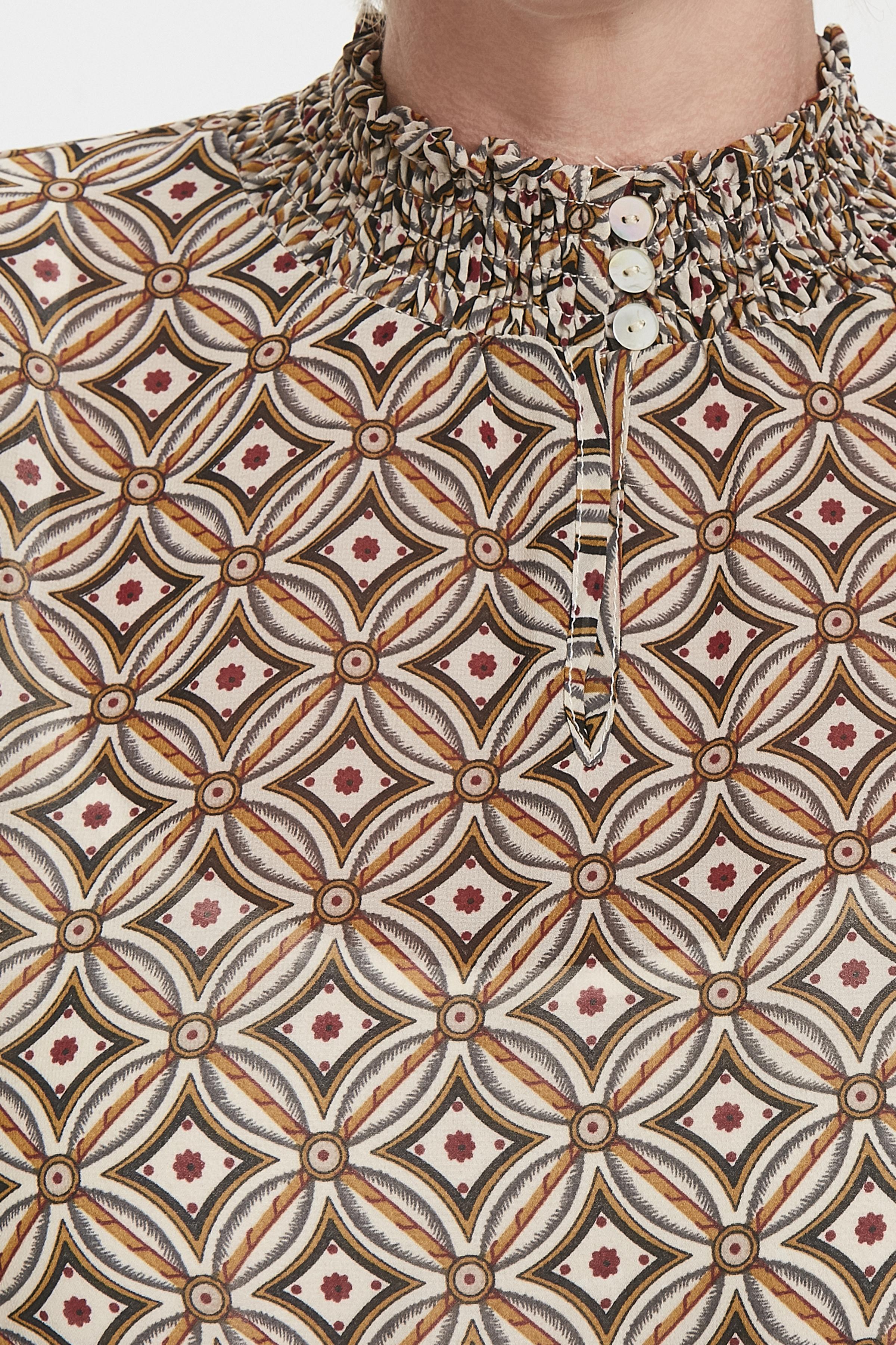 Mörk sand/off-white Klänning från Cream – Köp Mörk sand/off-white Klänning från stl. 34-46 här
