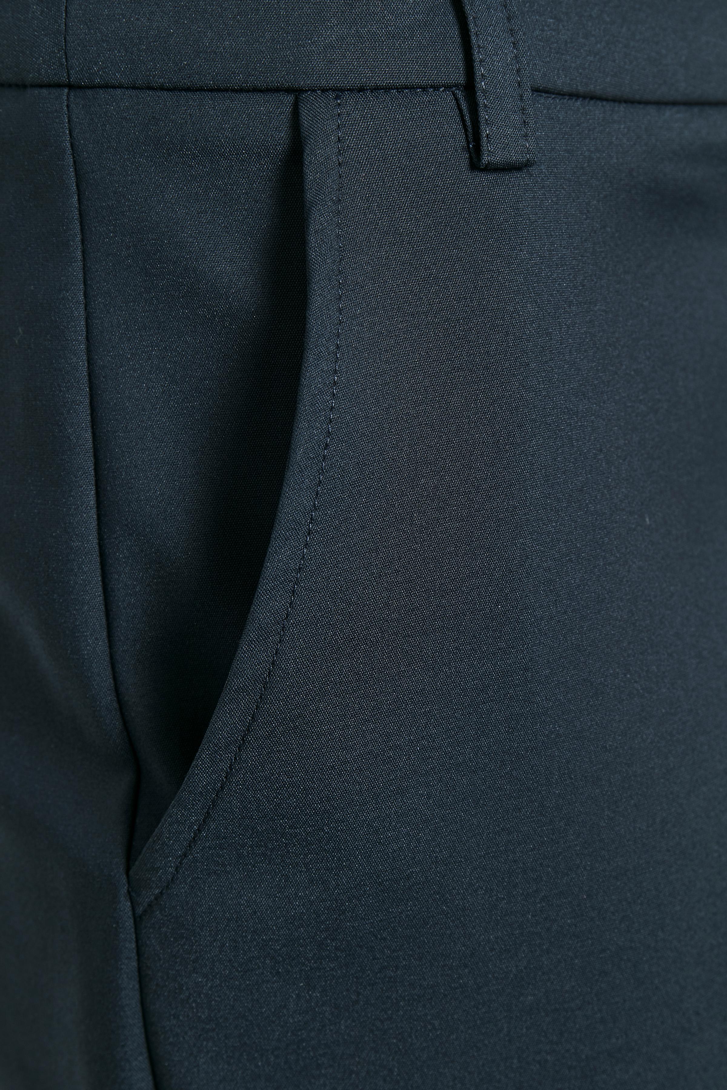 Mörkblå Ankelbyxa från Bon'A Parte – Köp Mörkblå Ankelbyxa från stl. 36-48 här