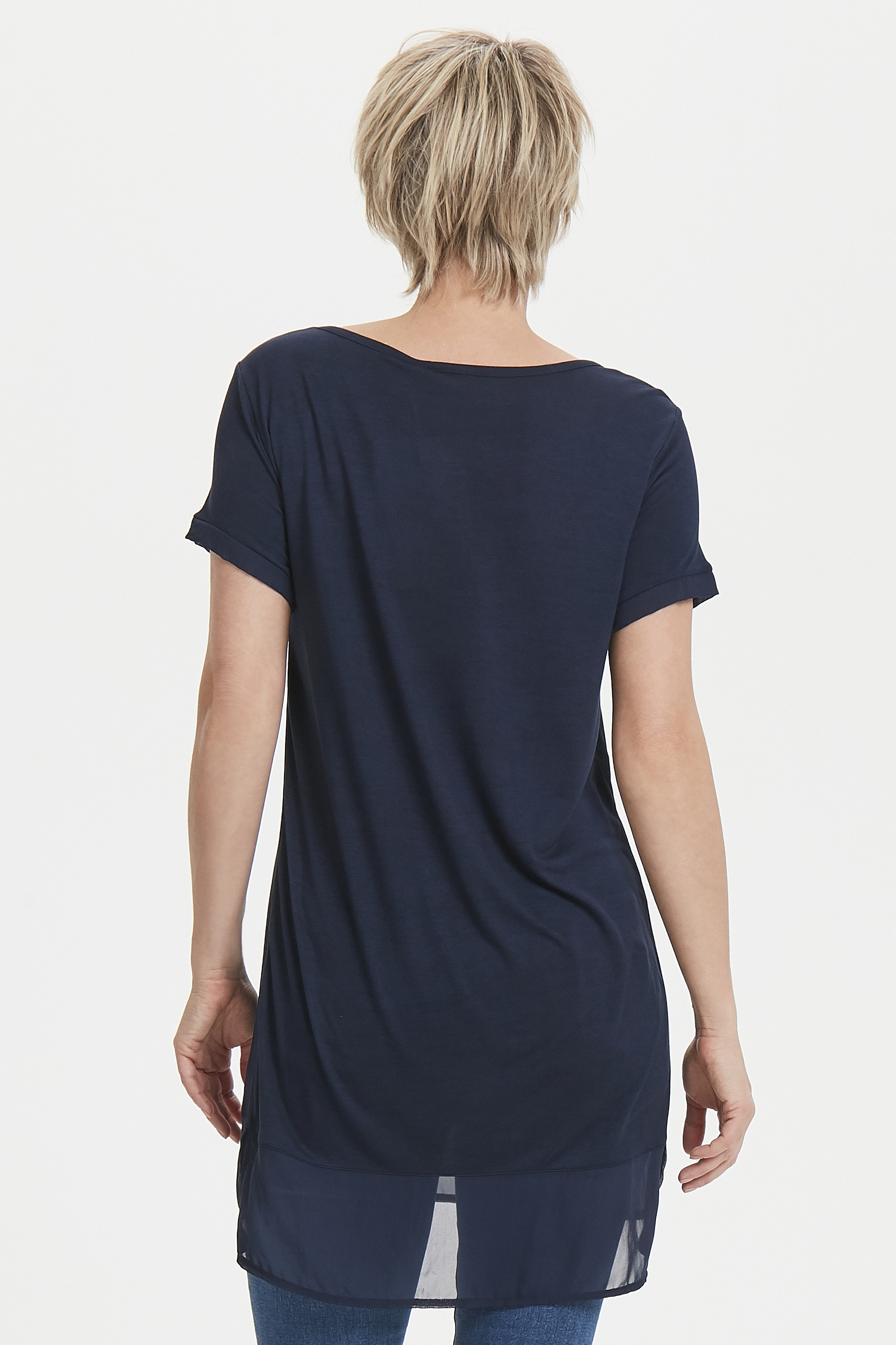 Mörkblå Tunika från Bon'A Parte – Köp Mörkblå Tunika från stl. S-2XL här