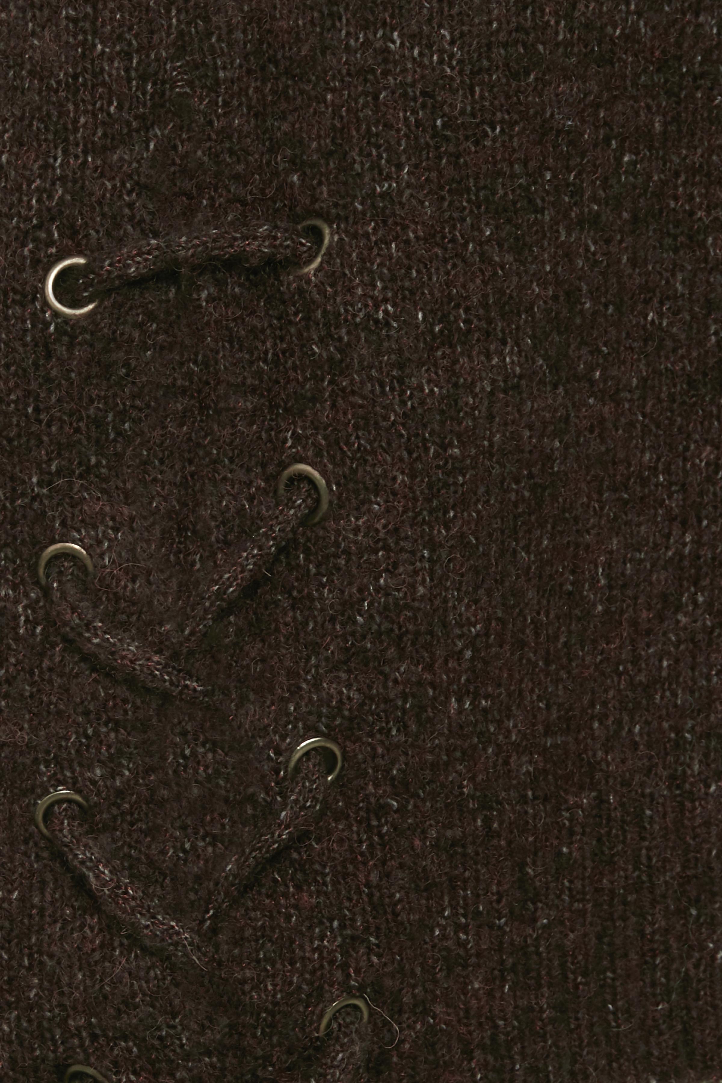 Mörkbrun Stickad tröja från Bon'A Parte – Köp Mörkbrun Stickad tröja från stl. S-2XL här