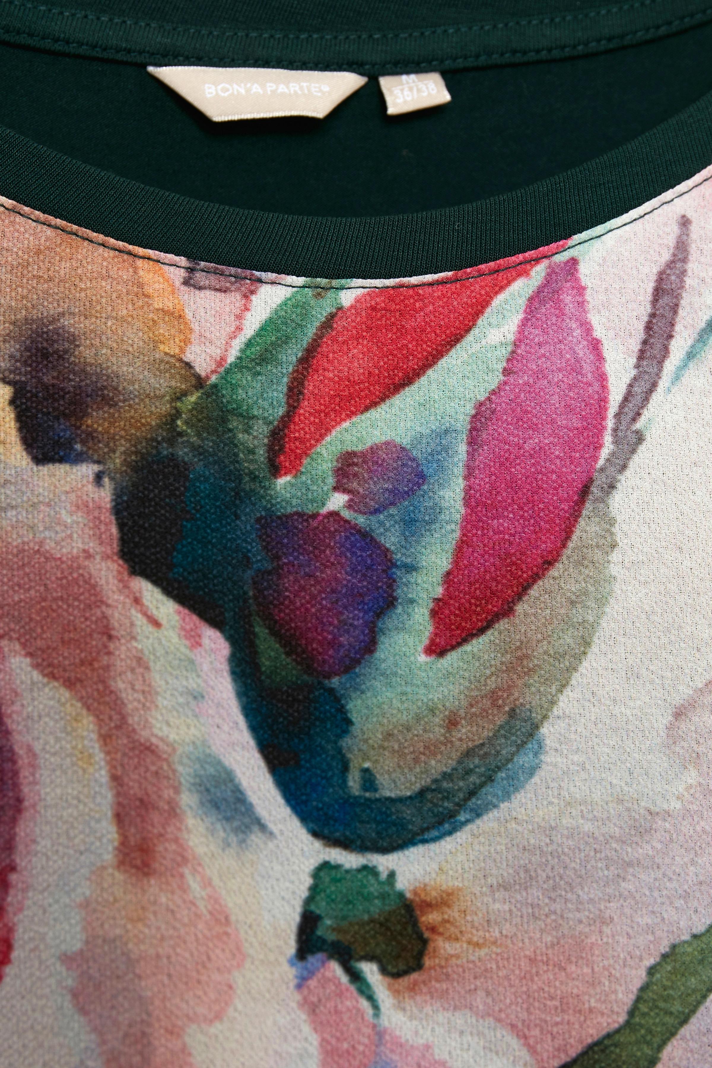 Mörkgrön Kortärmad blus från Bon'A Parte – Köp Mörkgrön Kortärmad blus från stl. S-2XL här