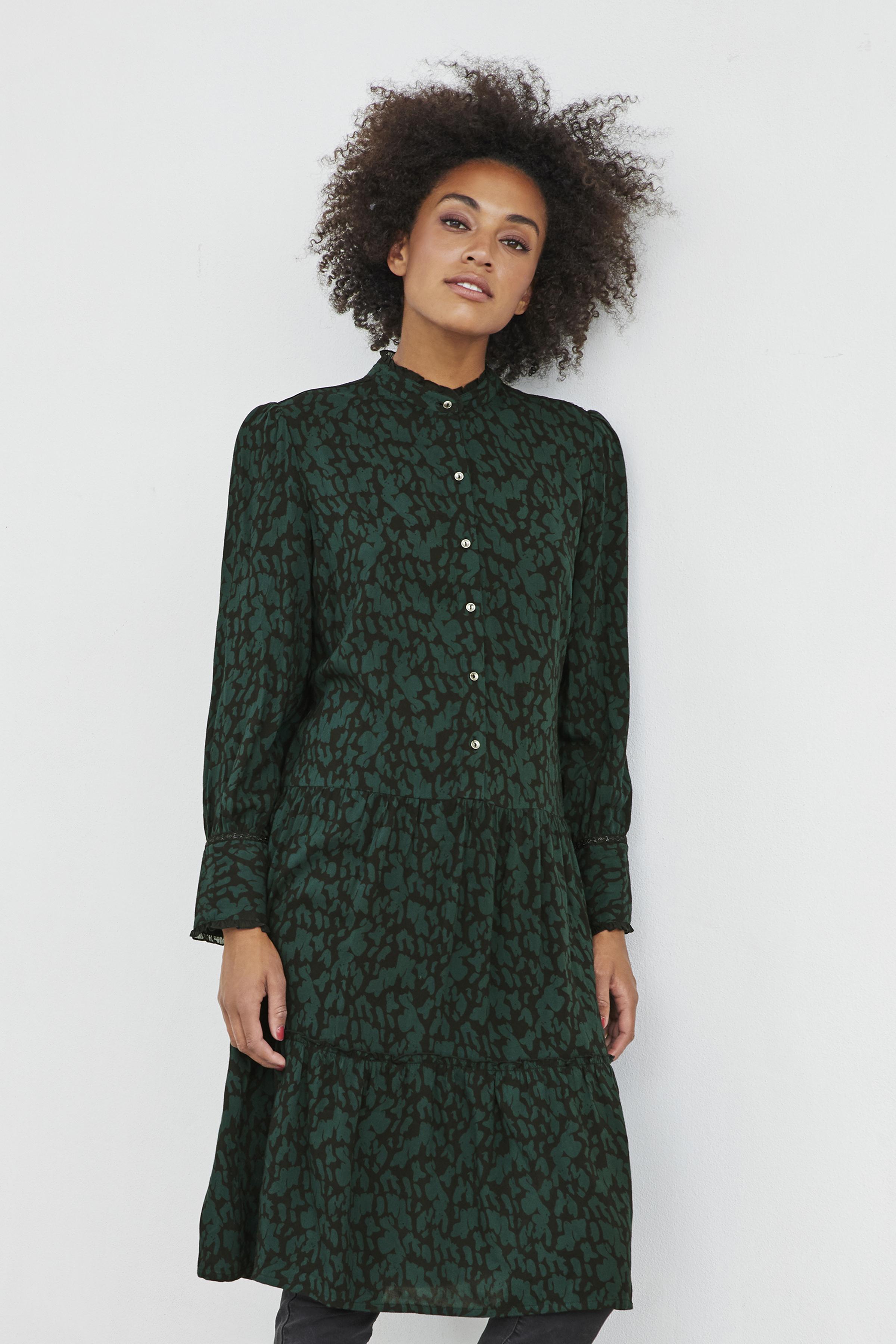 Mörkgrön/svart Klänning från Bon'A Parte – Köp Mörkgrön/svart Klänning från stl. S-2XL här