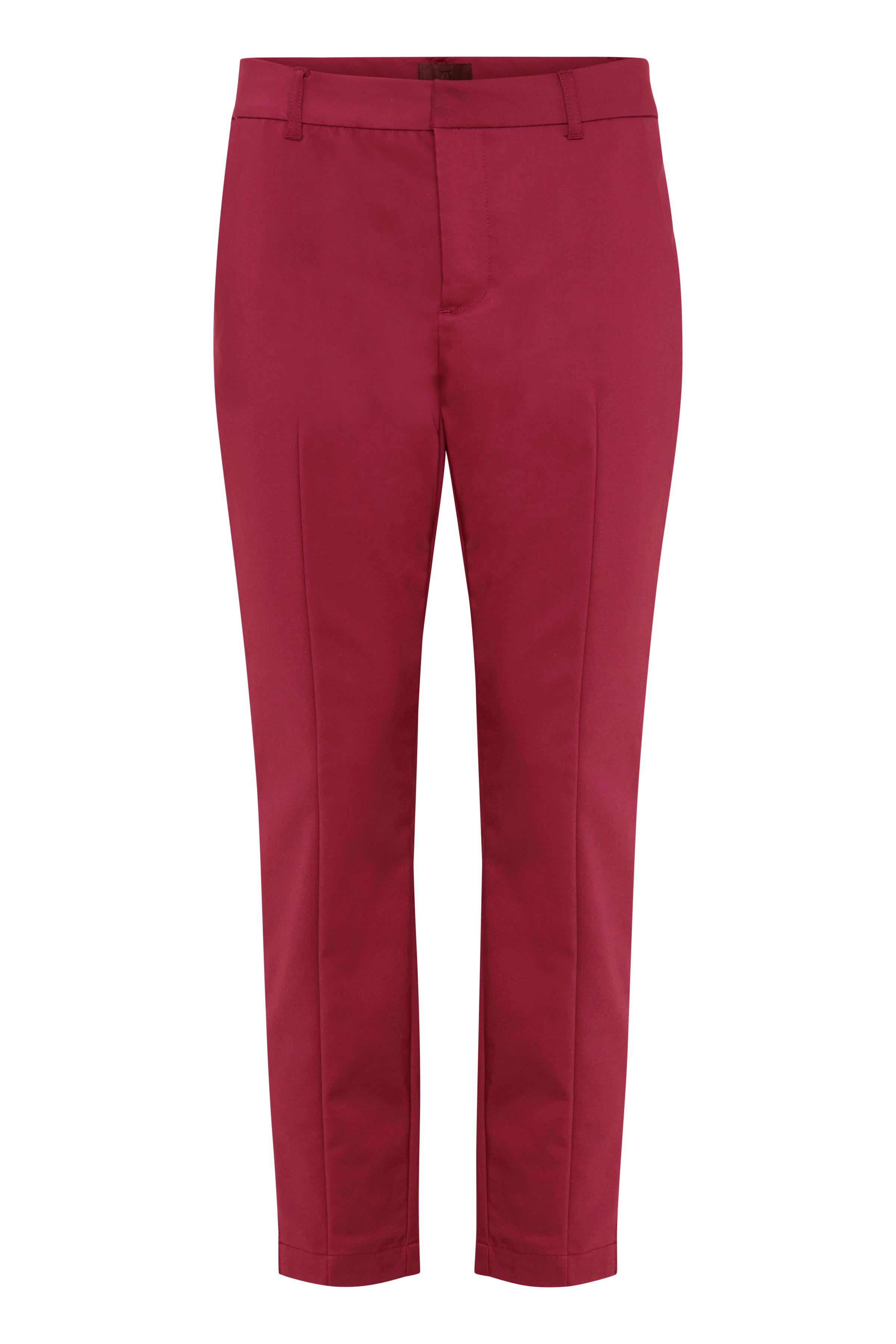 Mörkröd Casual byxor från Pulz Jeans – Köp Mörkröd Casual byxor från stl. 32-46 här