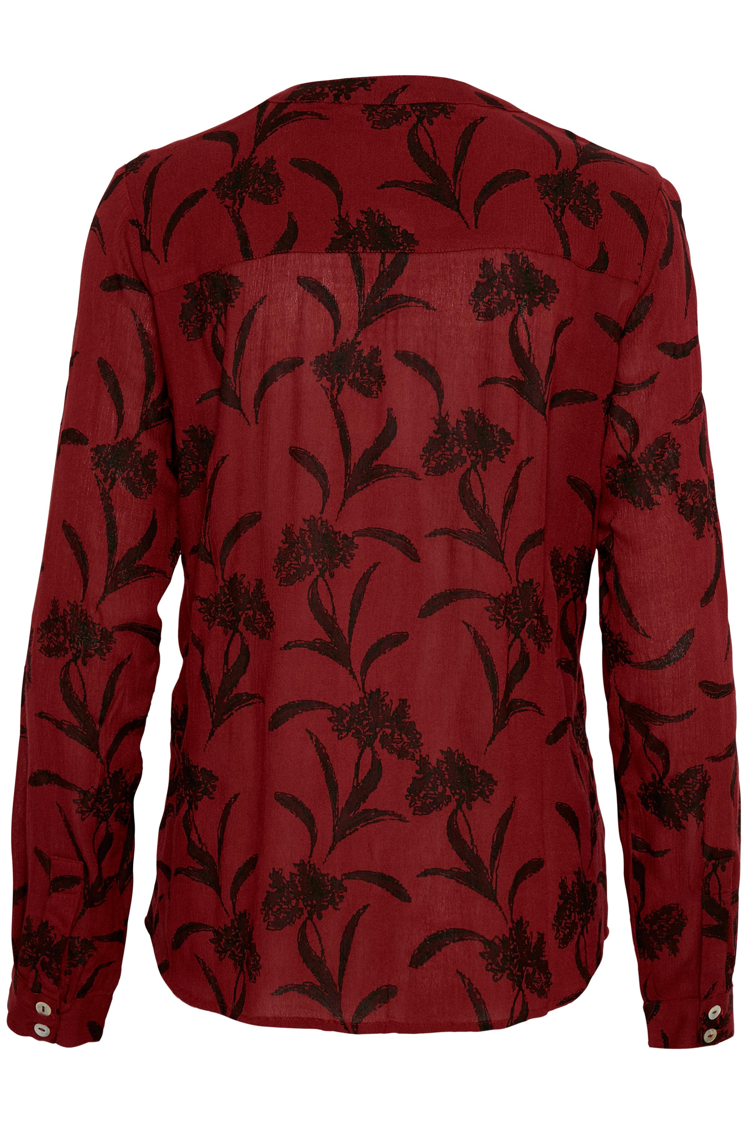 Mörkröd Långärmad skjorta från Kaffe – Köp Mörkröd Långärmad skjorta från stl. 34-46 här