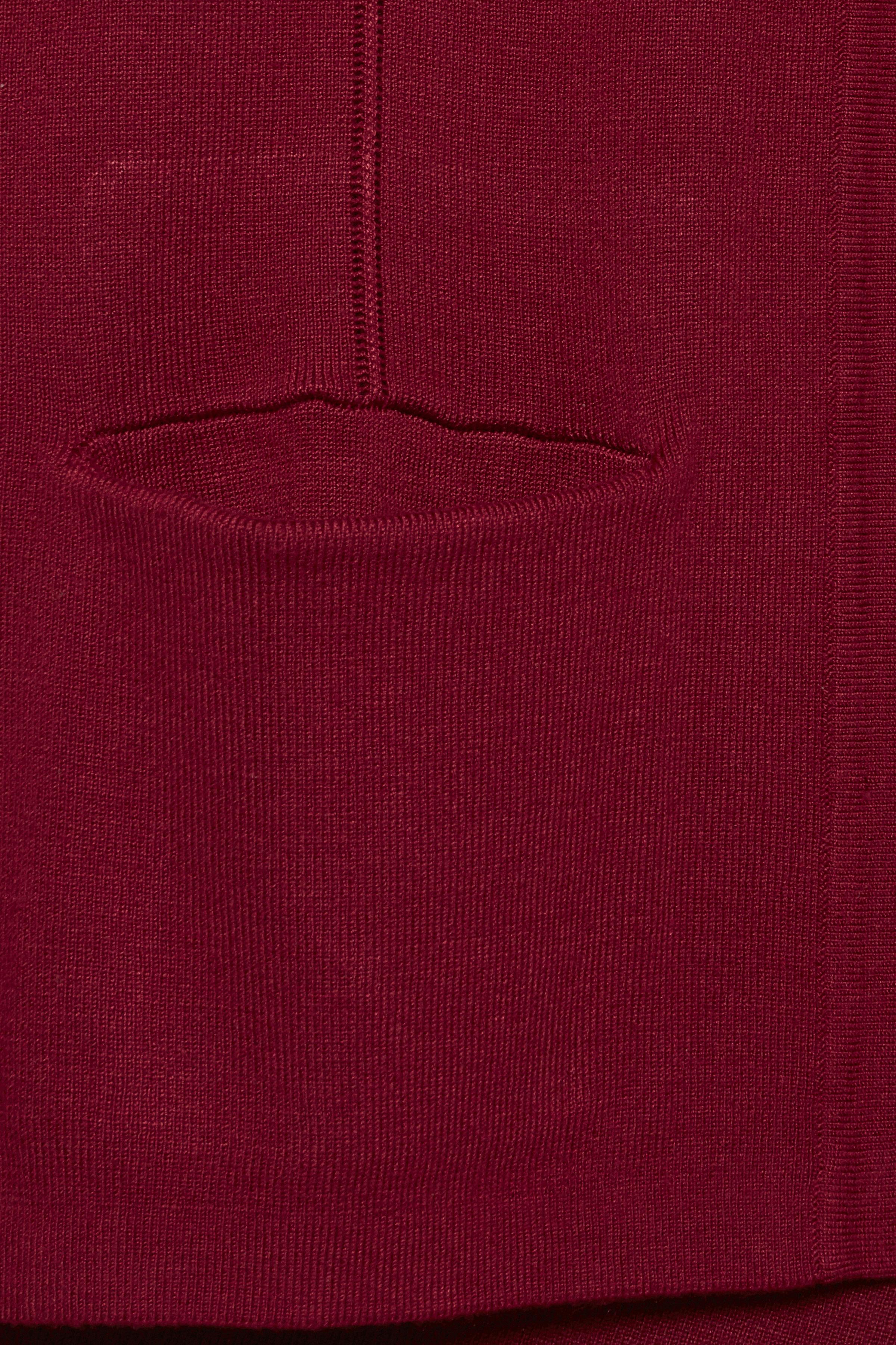 Mörkröd Stickad cardigan från Pulz Jeans – Köp Mörkröd Stickad cardigan från stl. XS-XXL här