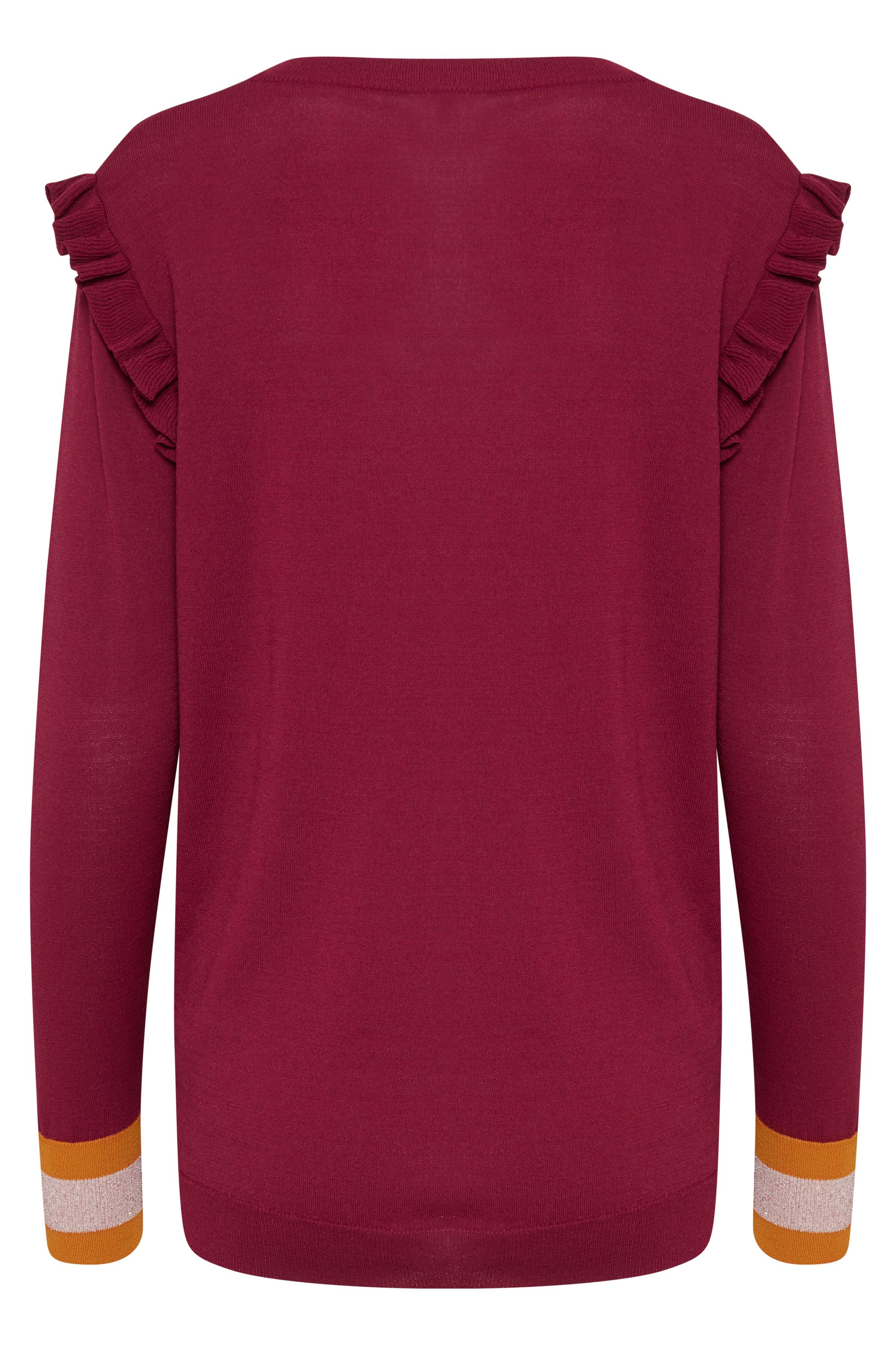 Mörkröd Stickad pullover från Dranella – Köp Mörkröd Stickad pullover från stl. XS-XXL här