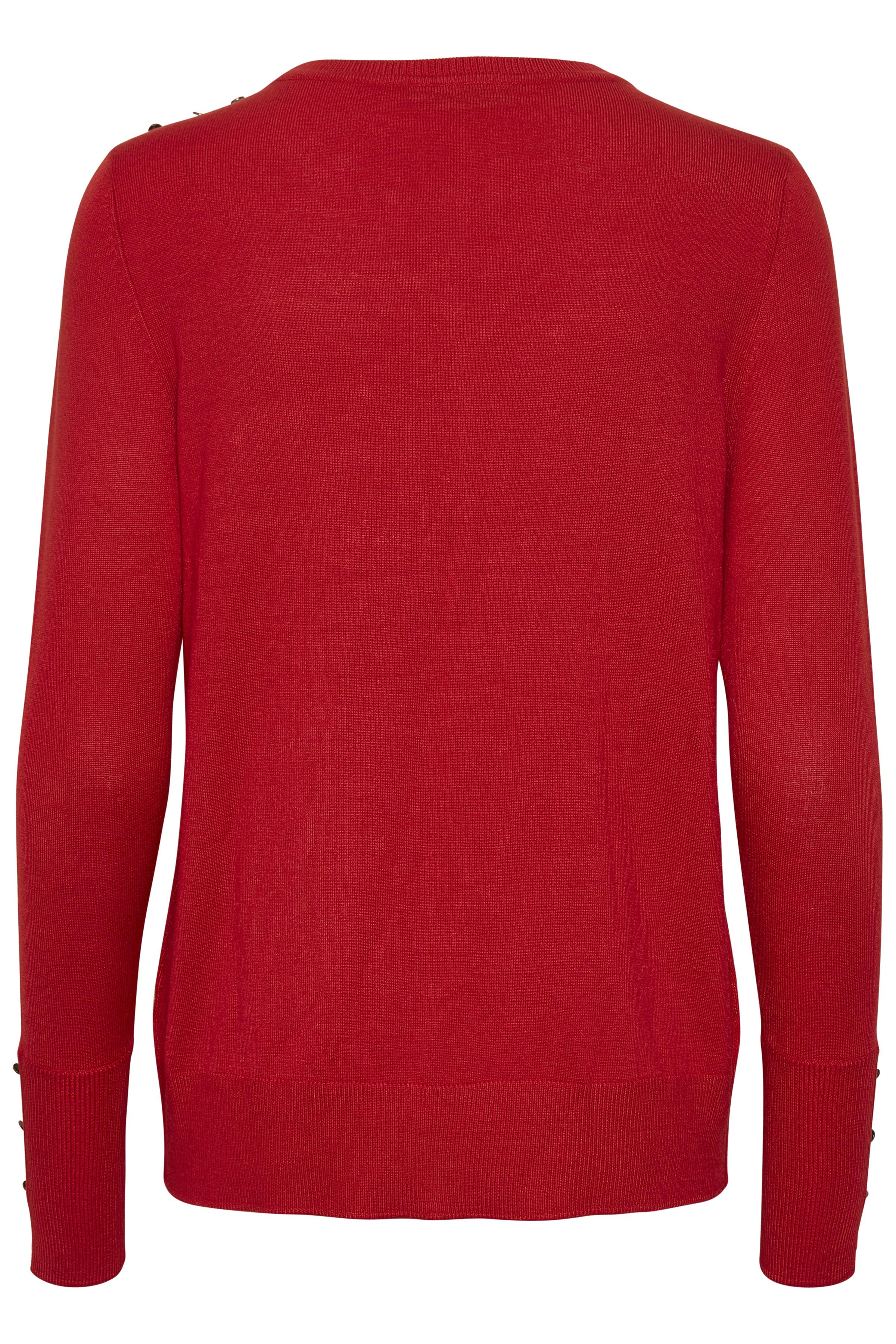 Mörkröd Stickad pullover från Fransa – Köp Mörkröd Stickad pullover från stl. XS-XXL här