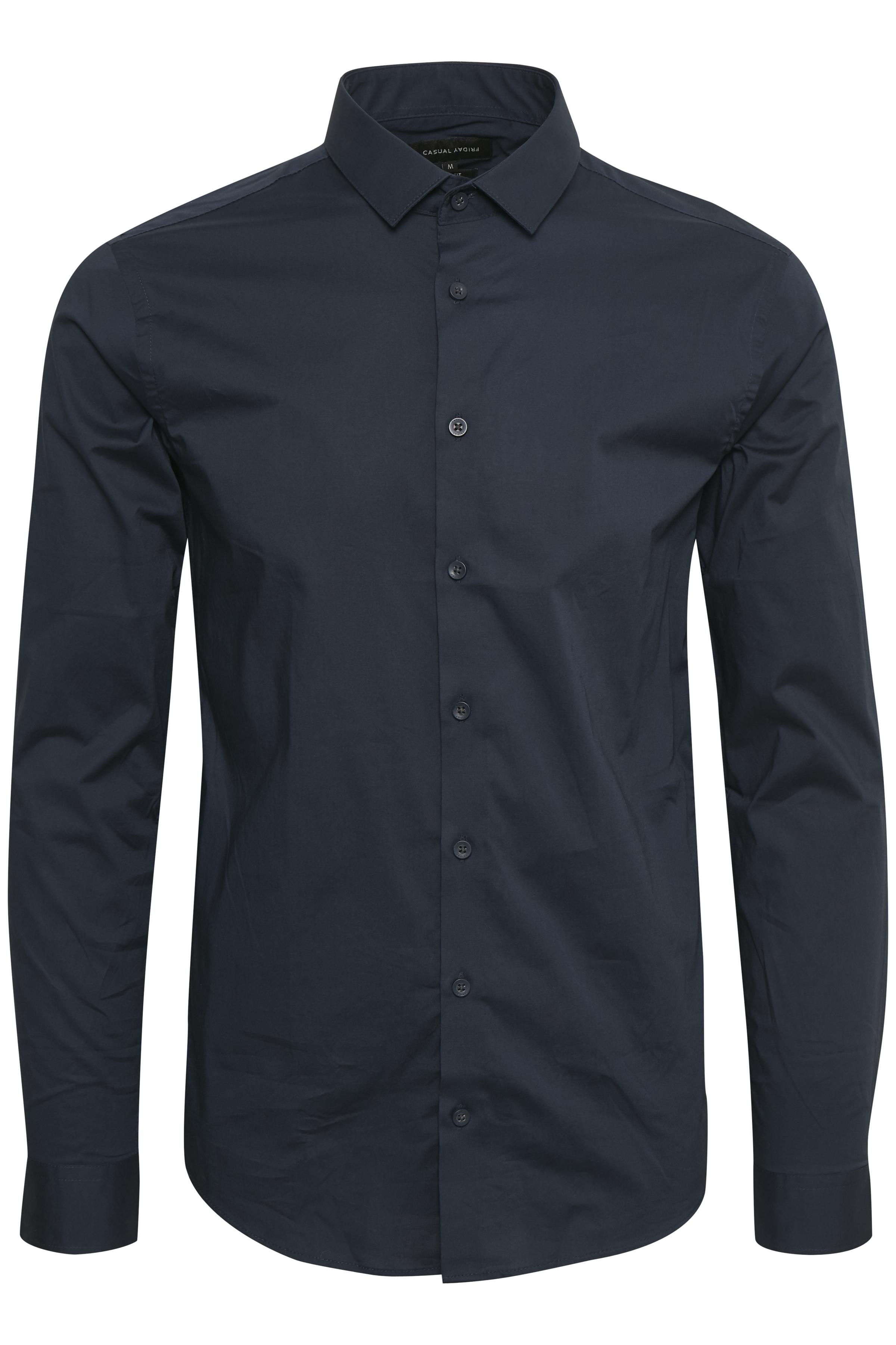 Navy Langærmet skjorte fra Casual Friday – Køb Navy Langærmet skjorte fra str. XXS-3XL her