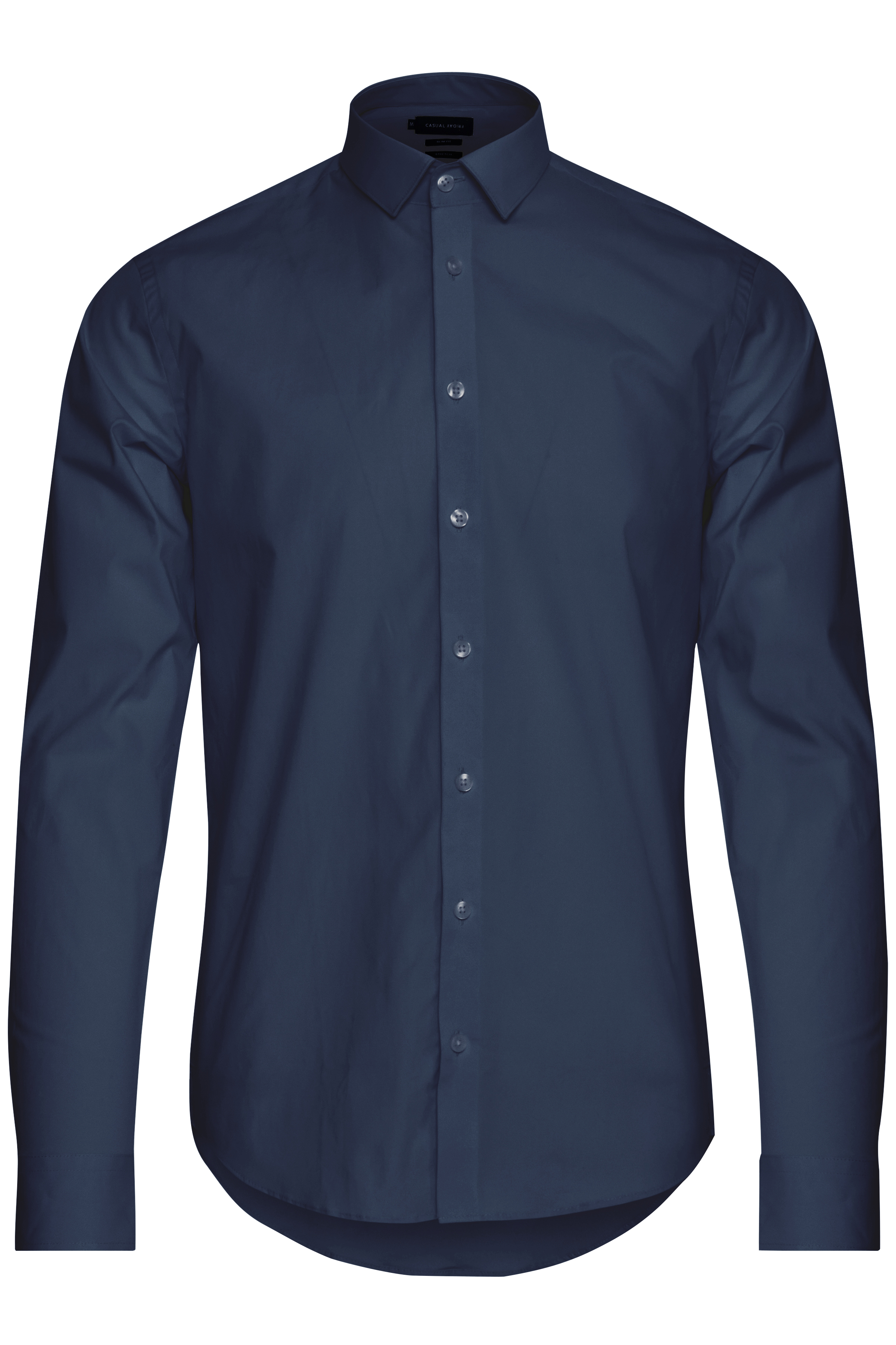 Image of Casual Friday Herre Flot skjorte - Navy
