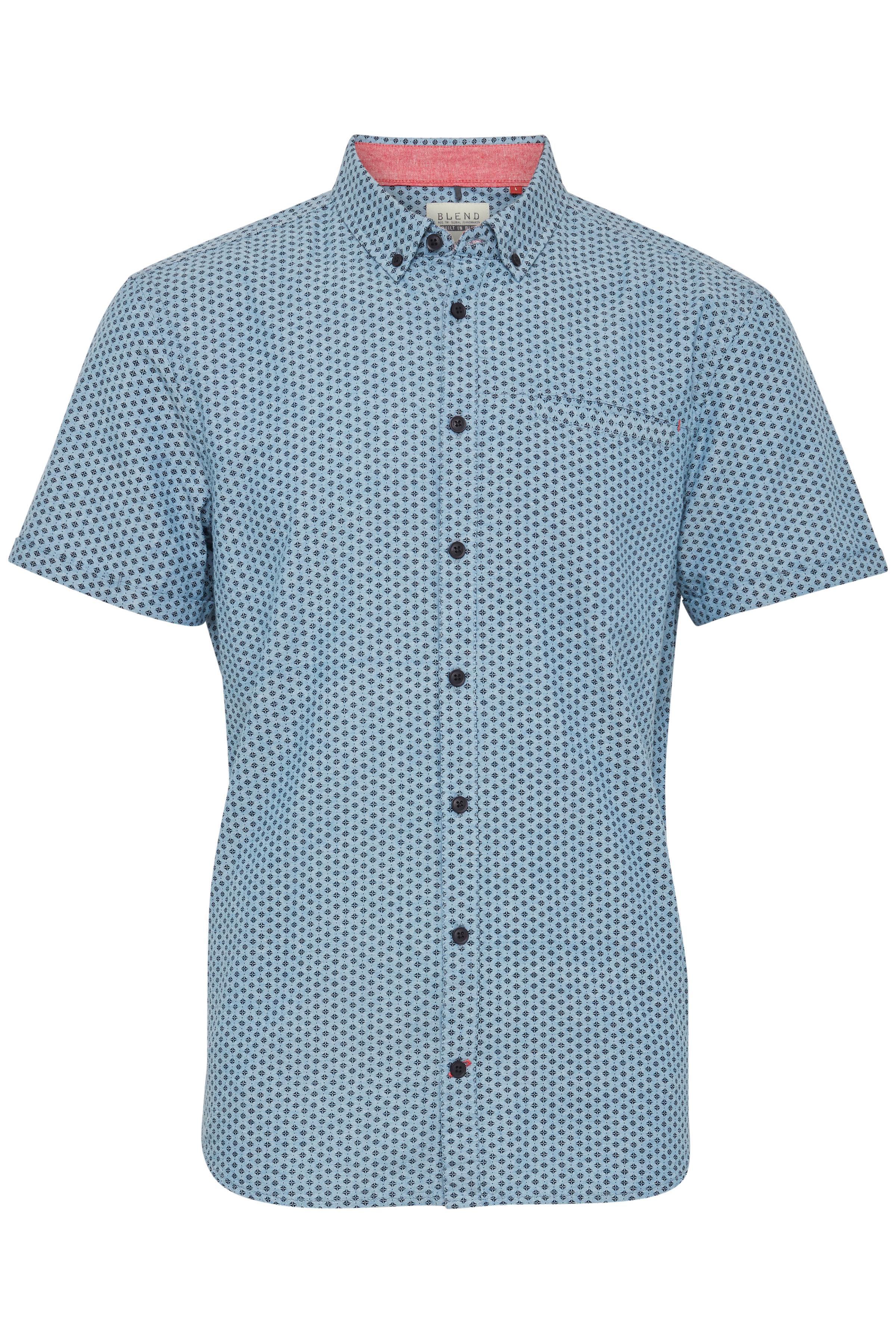 Niagara Blue Kortærmet skjorte fra Blend He – Køb Niagara Blue Kortærmet skjorte fra str. S-3XL her