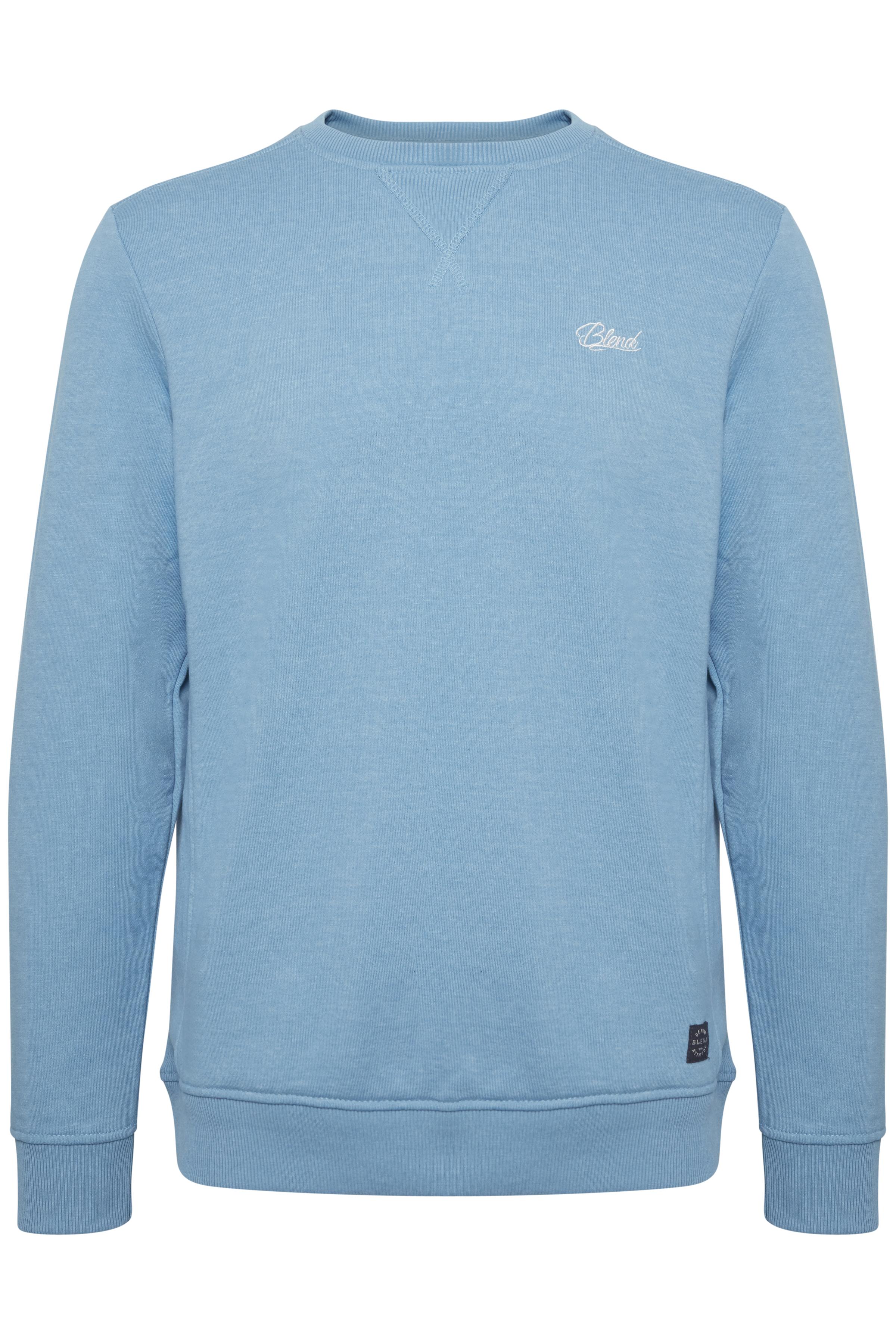 Blend He Herre BLEND sweatshirt med lange ærmer og rund hals. Denne sweatshirt - Niagara Blue