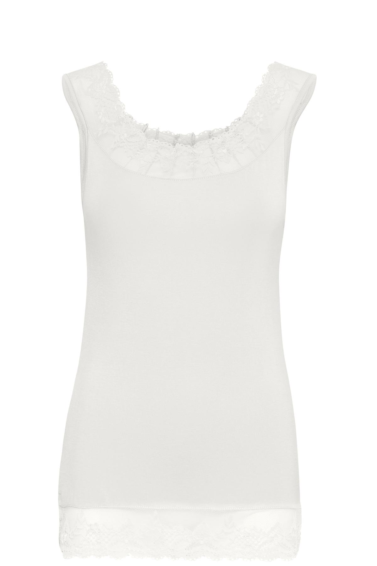 Image of   Cream Dame Ærmeløs top - Off-white