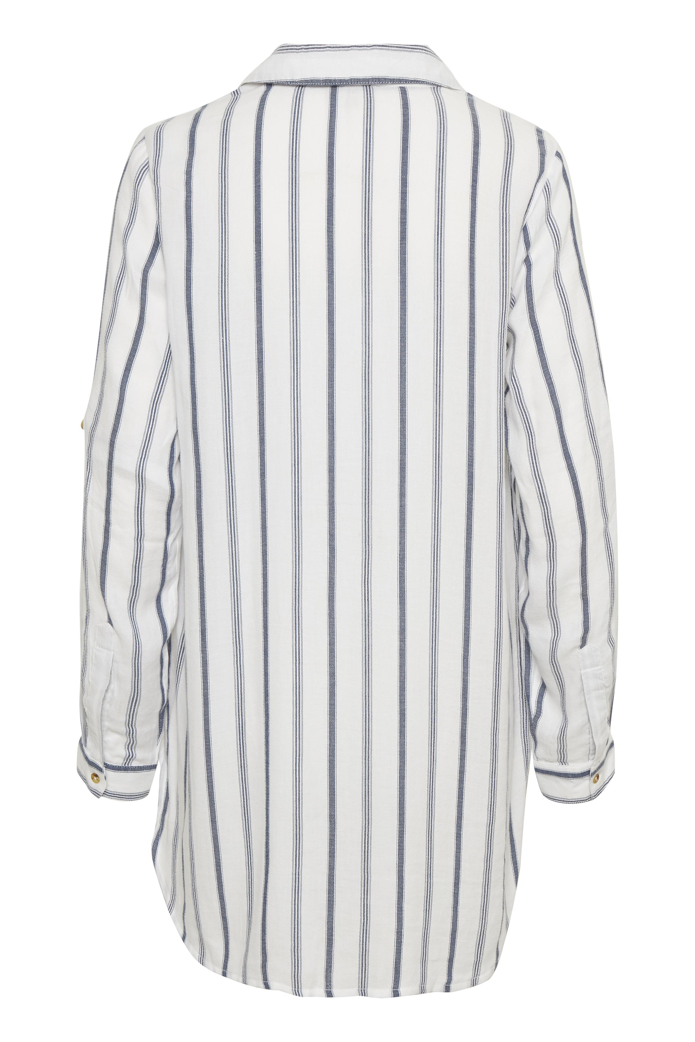 Off-white/blå Kjole fra Bon'A Parte – Køb Off-white/blå Kjole fra str. S-2XL her