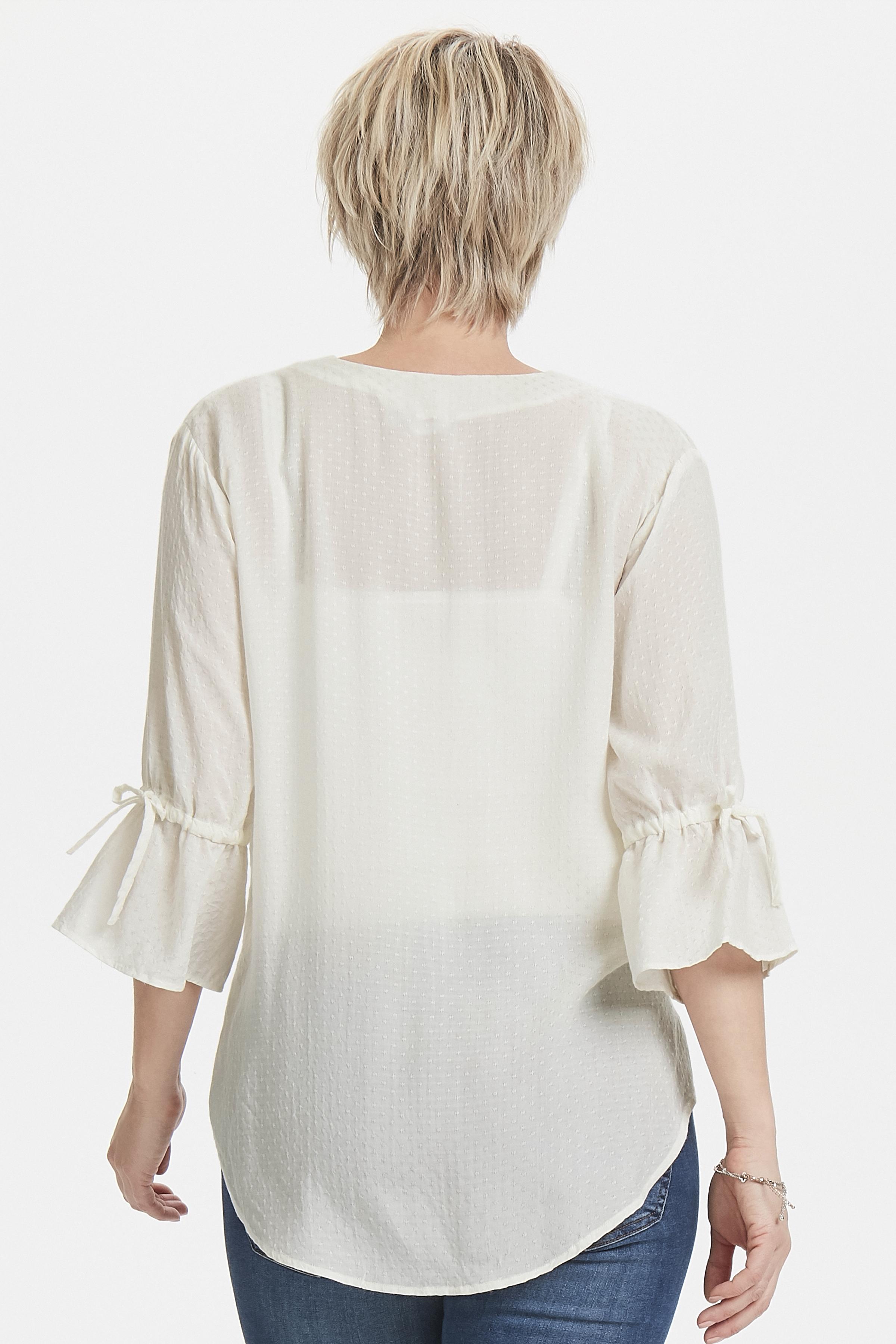 Off-white Bluse  fra Bon'A Parte – Køb Off-white Bluse  fra str. S-2XL her