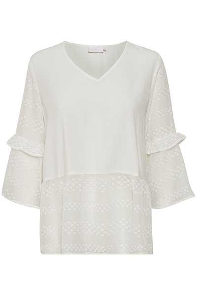 Image of Kaffe Dame Smuk Dessia bluse - Off-white