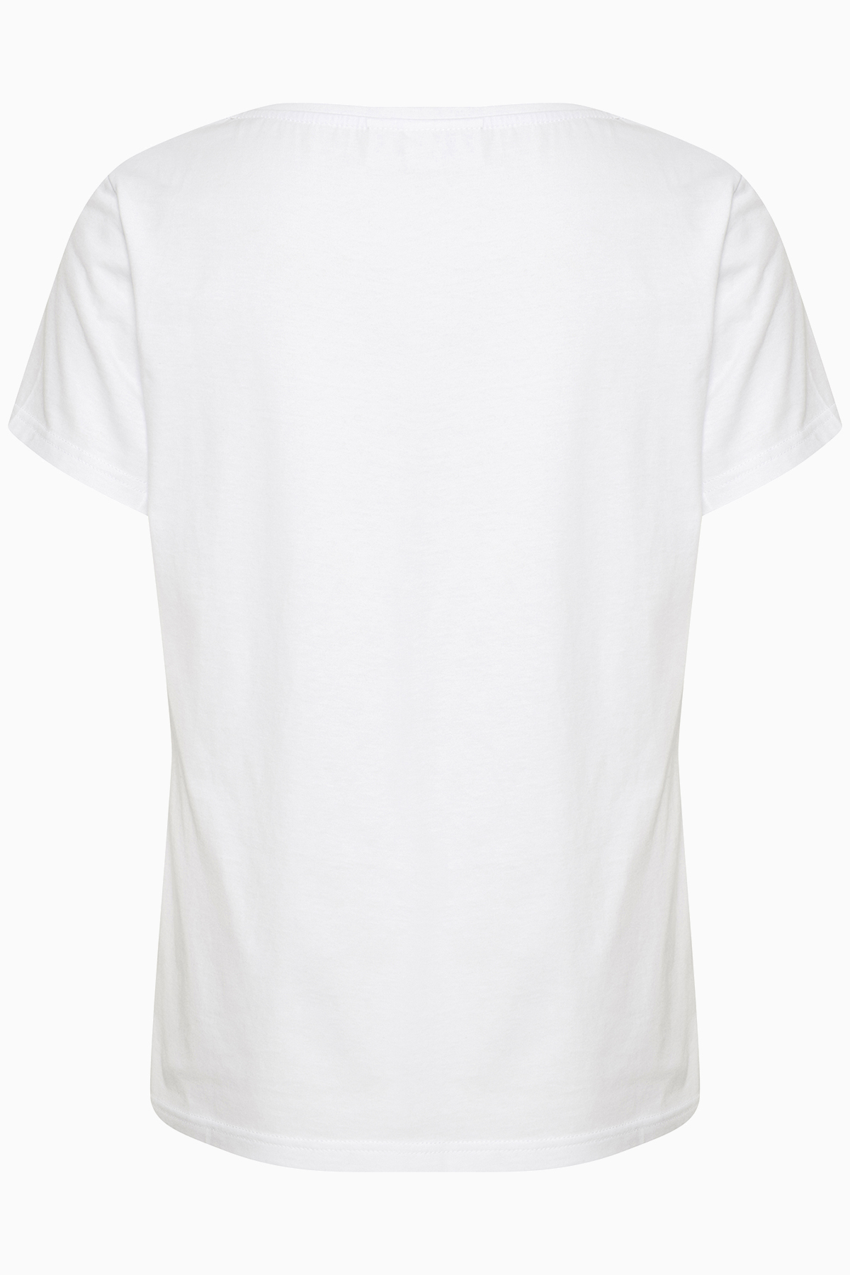 Off-white/fuchsia T-shirt korte mouw van Kaffe – Door Off-white/fuchsia T-shirt korte mouw van maat. L-XXL hier