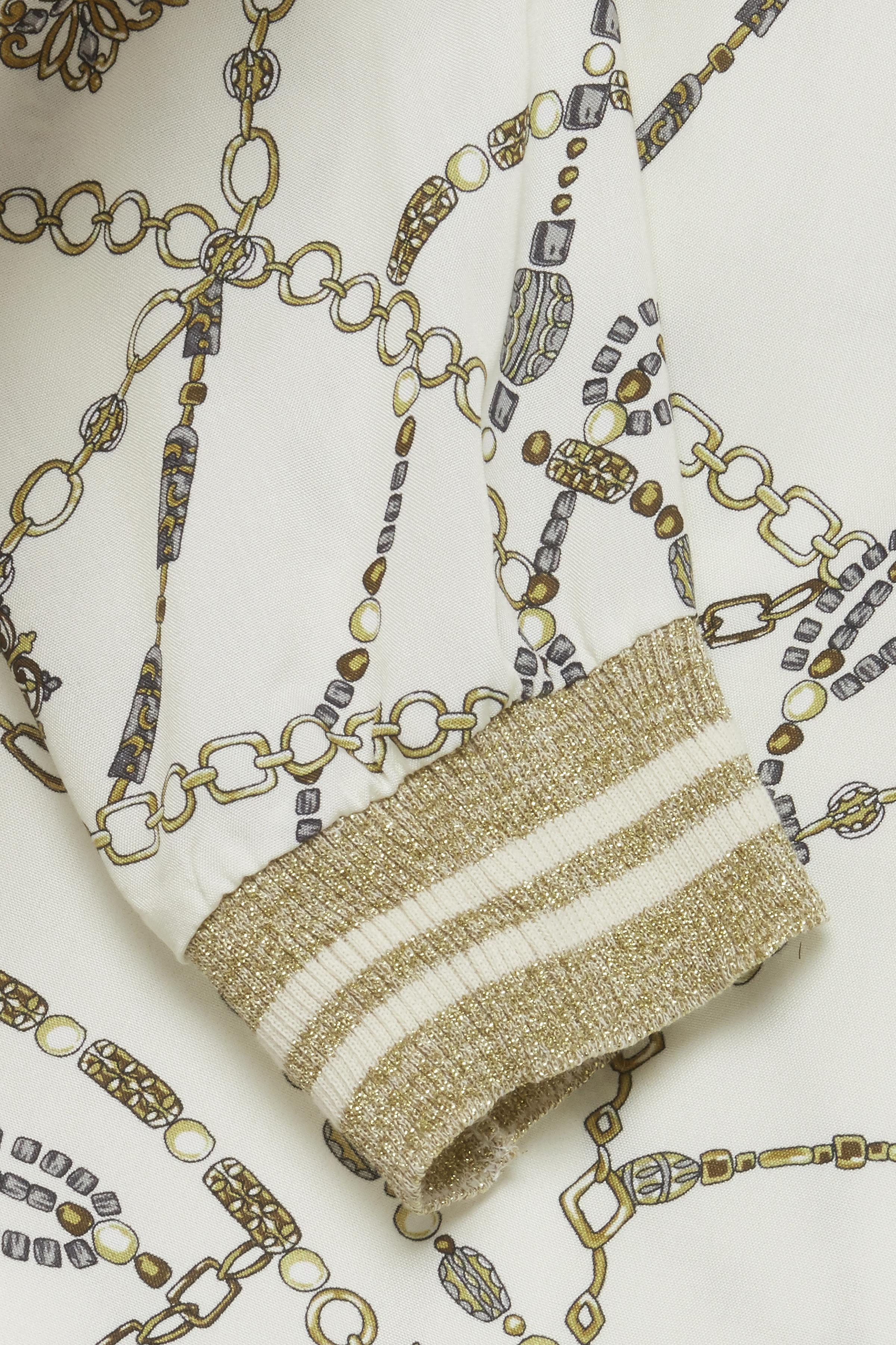 Off-white/goud Blouse met lange mouwen van b.young – Door Off-white/goud Blouse met lange mouwen van maat. 34-46 hier