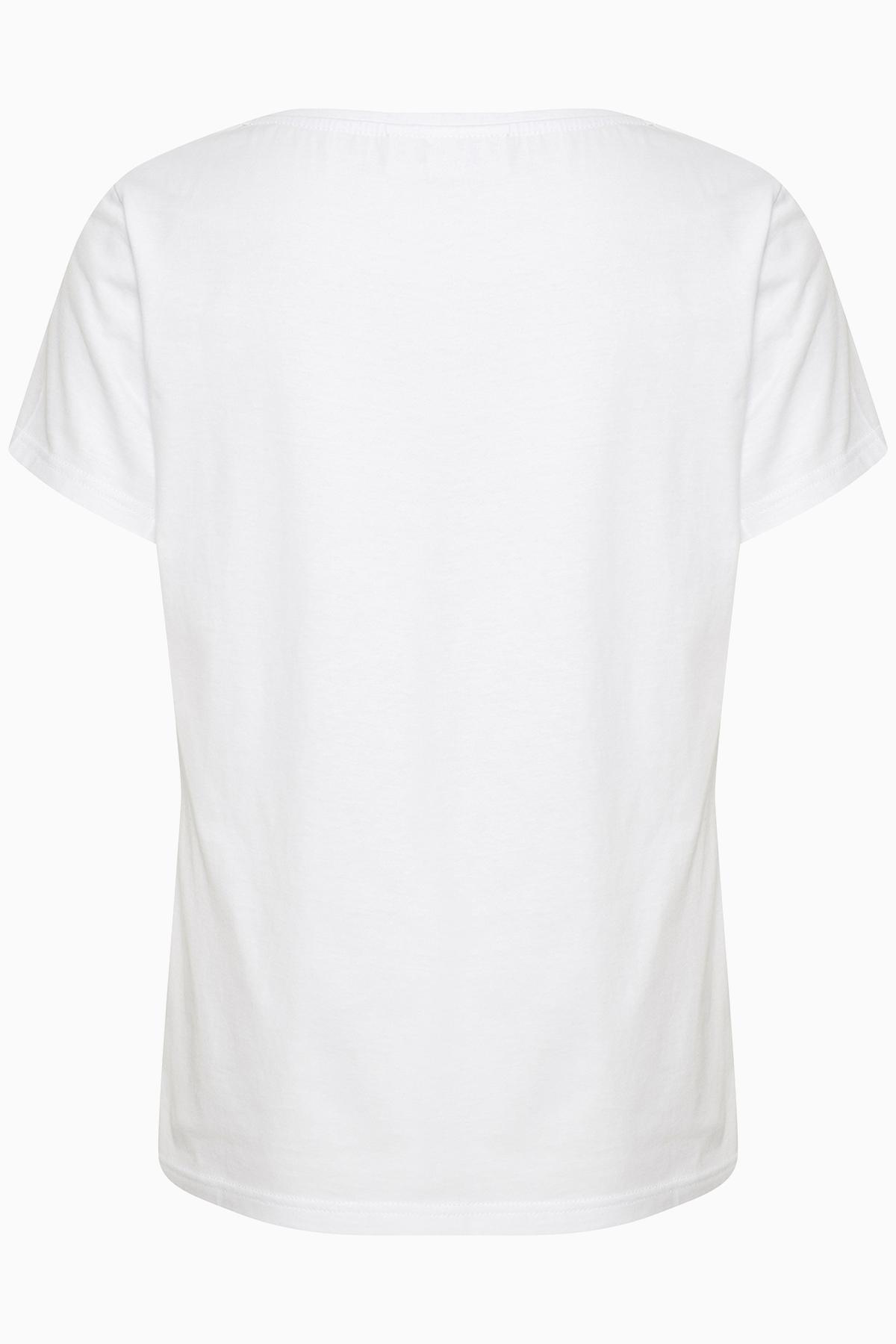 Off-white/groen T-shirt korte mouw van Kaffe – Door Off-white/groen T-shirt korte mouw van maat. XS-XXL hier