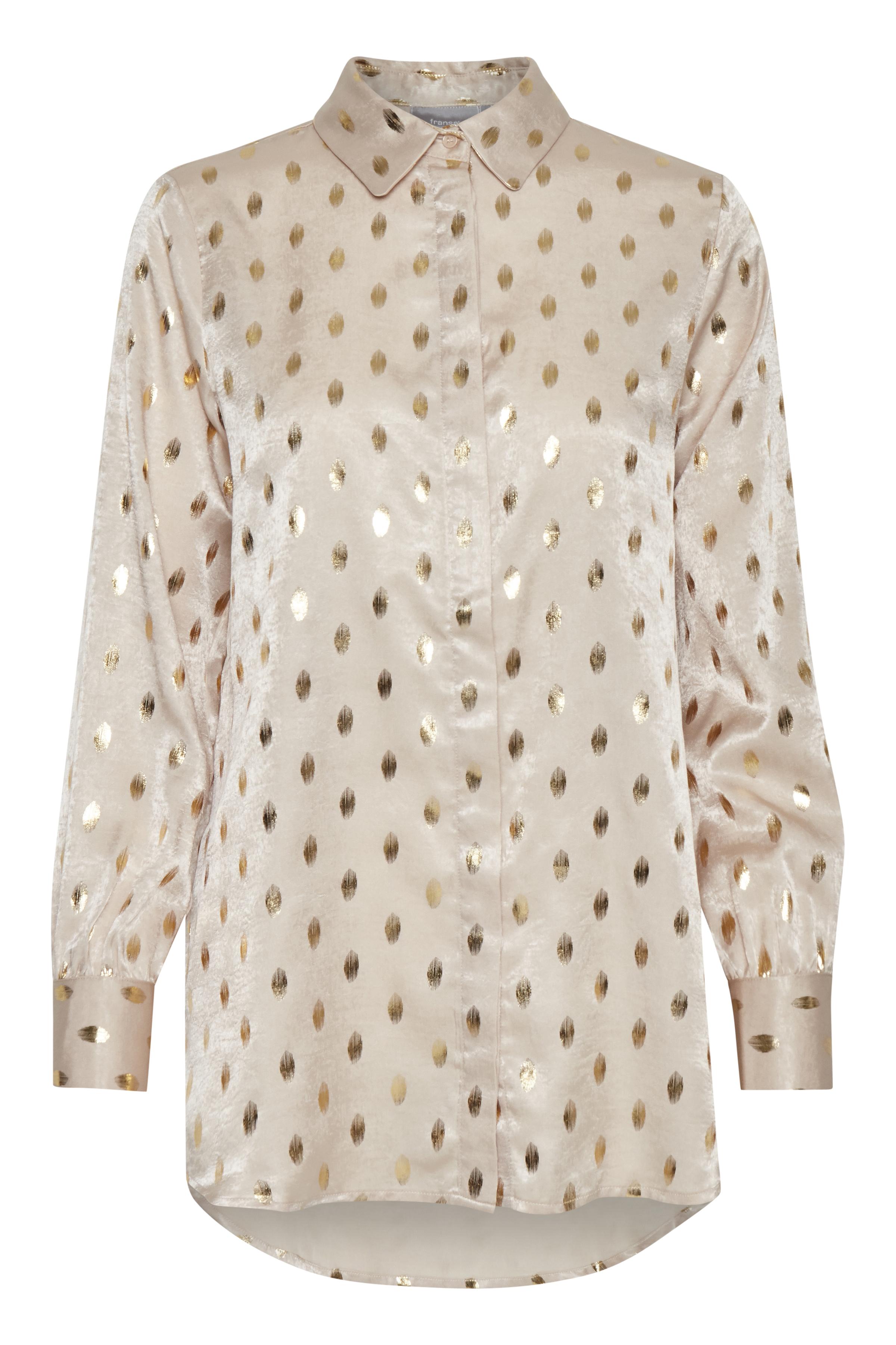 Image of Fransa Dame Skjorte - Off-white/guld
