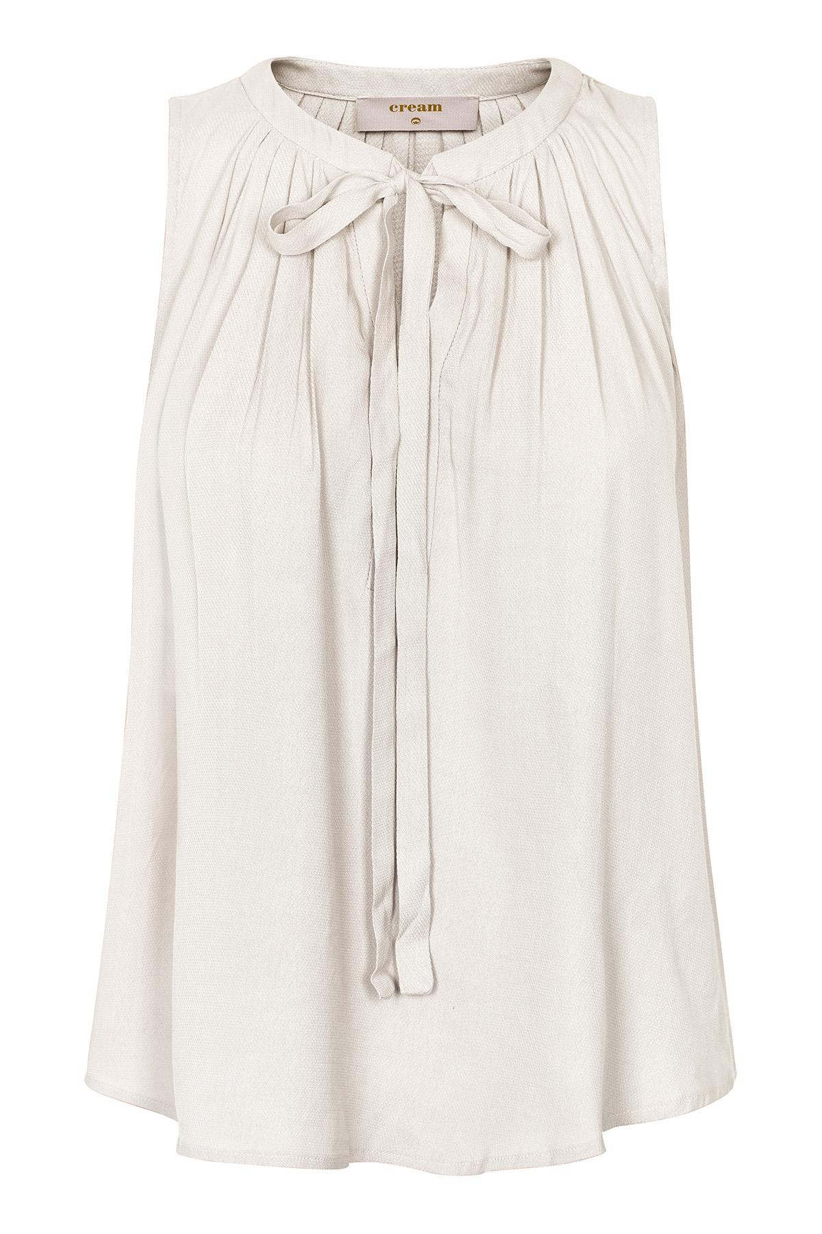 Image of Cream Dame Kortærmet bluse - Off-white