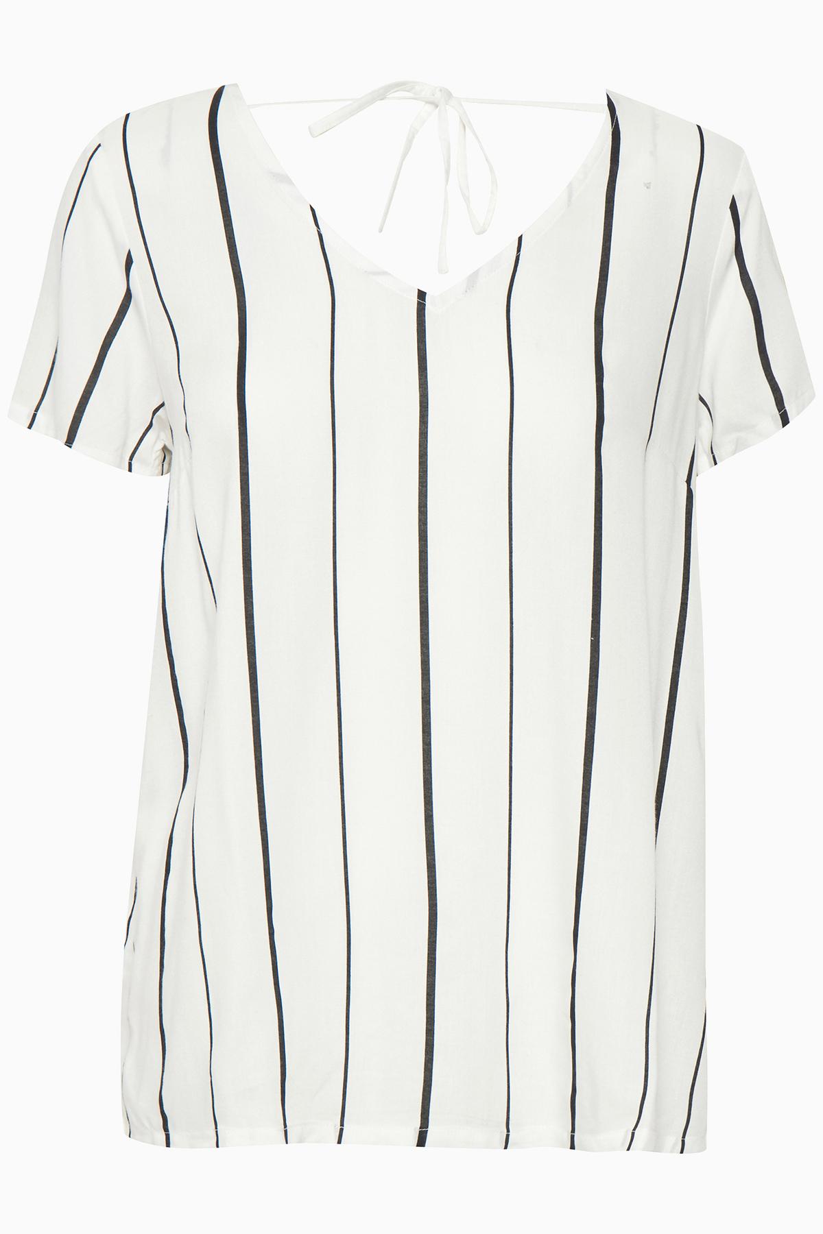 Off-white Kortærmet bluse fra Kaffe – Køb Off-white Kortærmet bluse fra str. 34-46 her