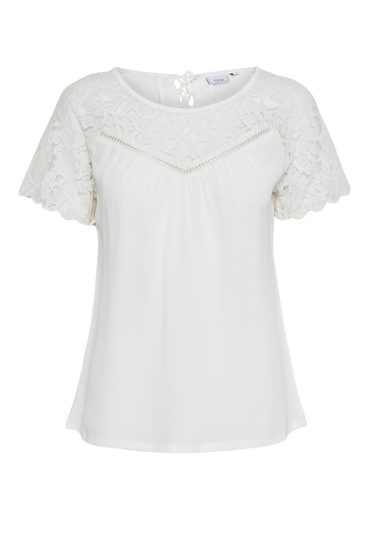 Off-white Kortærmet T-shirt fra Fransa – Køb Off-white Kortærmet T-shirt fra str. XS-XXL her