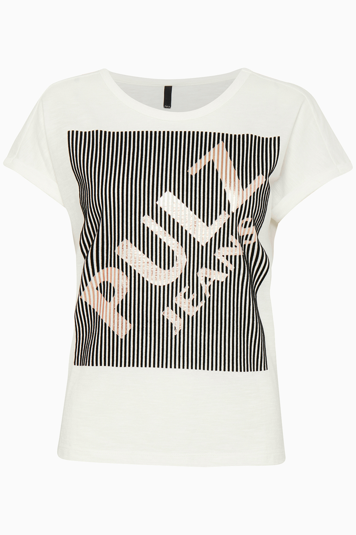 Pulz Jeans Dame God Eclipse T-shirt  - Off-white