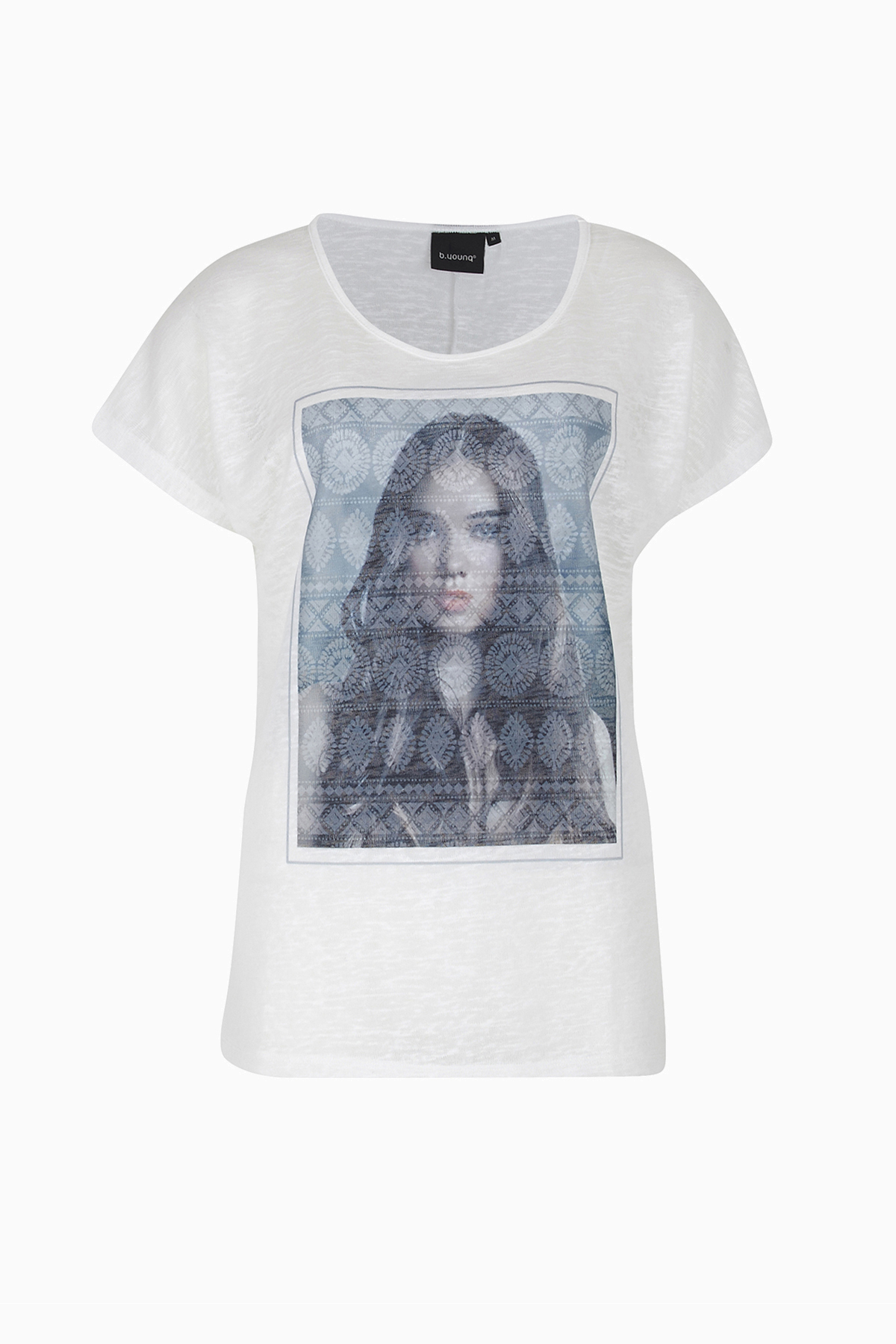 Image of b.young Dame Kortærmet T-shirt - Off-white