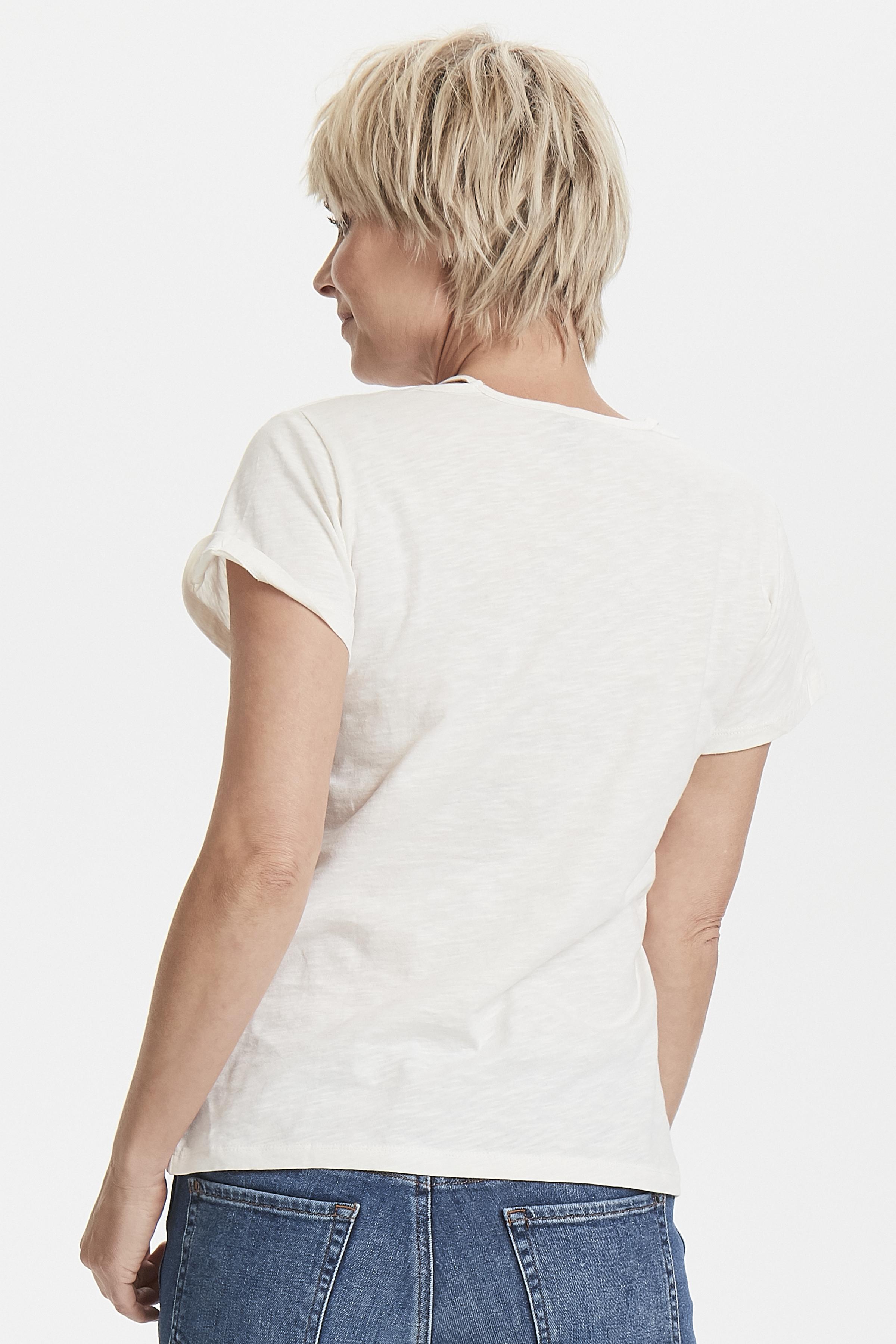 Off-white Kortærmet T-shirt fra Pulz Jeans – Køb Off-white Kortærmet T-shirt fra str. XS-XXL her