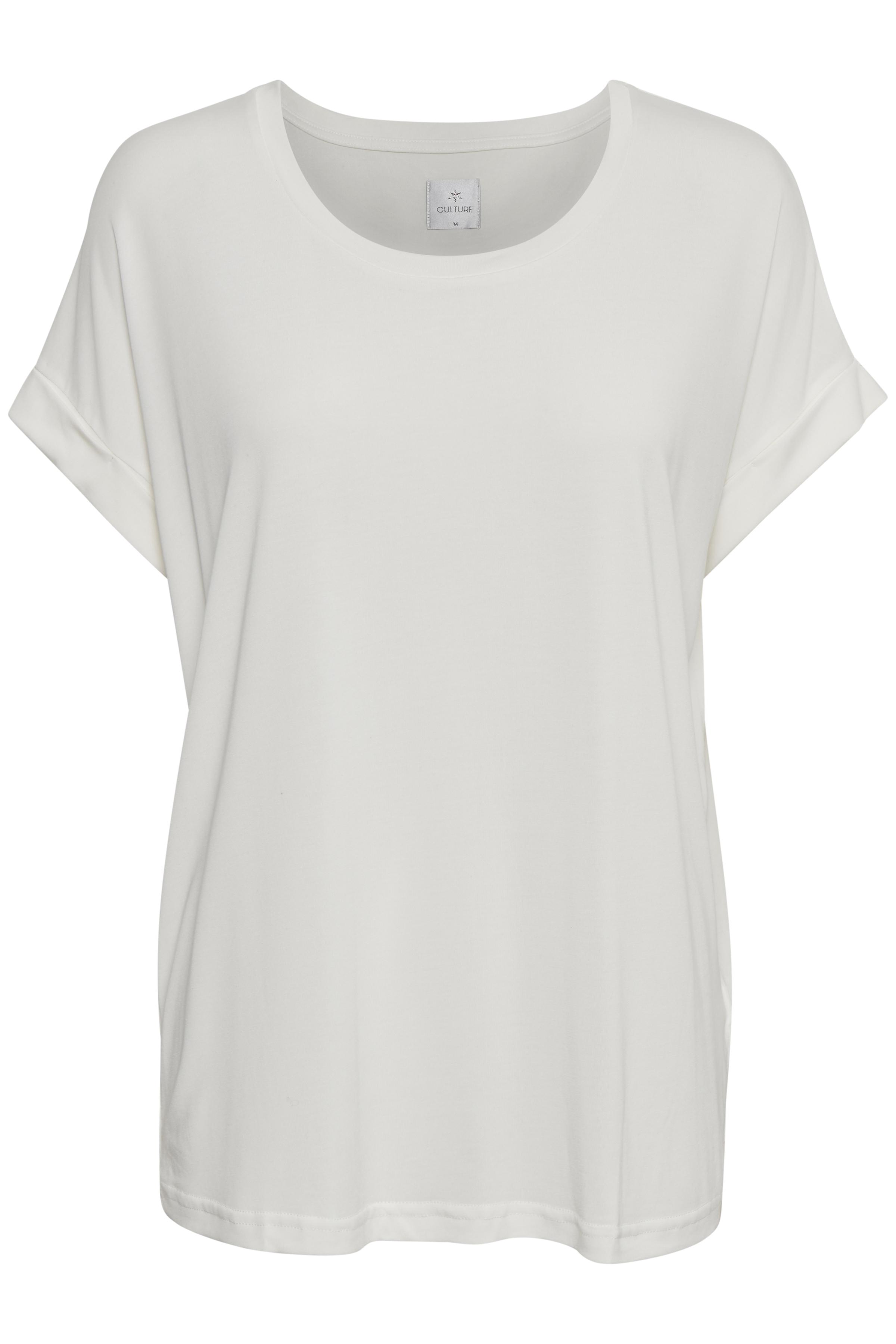 Off-white Kortärmad T-shirt från Culture – Köp Off-white Kortärmad T-shirt från stl. XS-XXL här