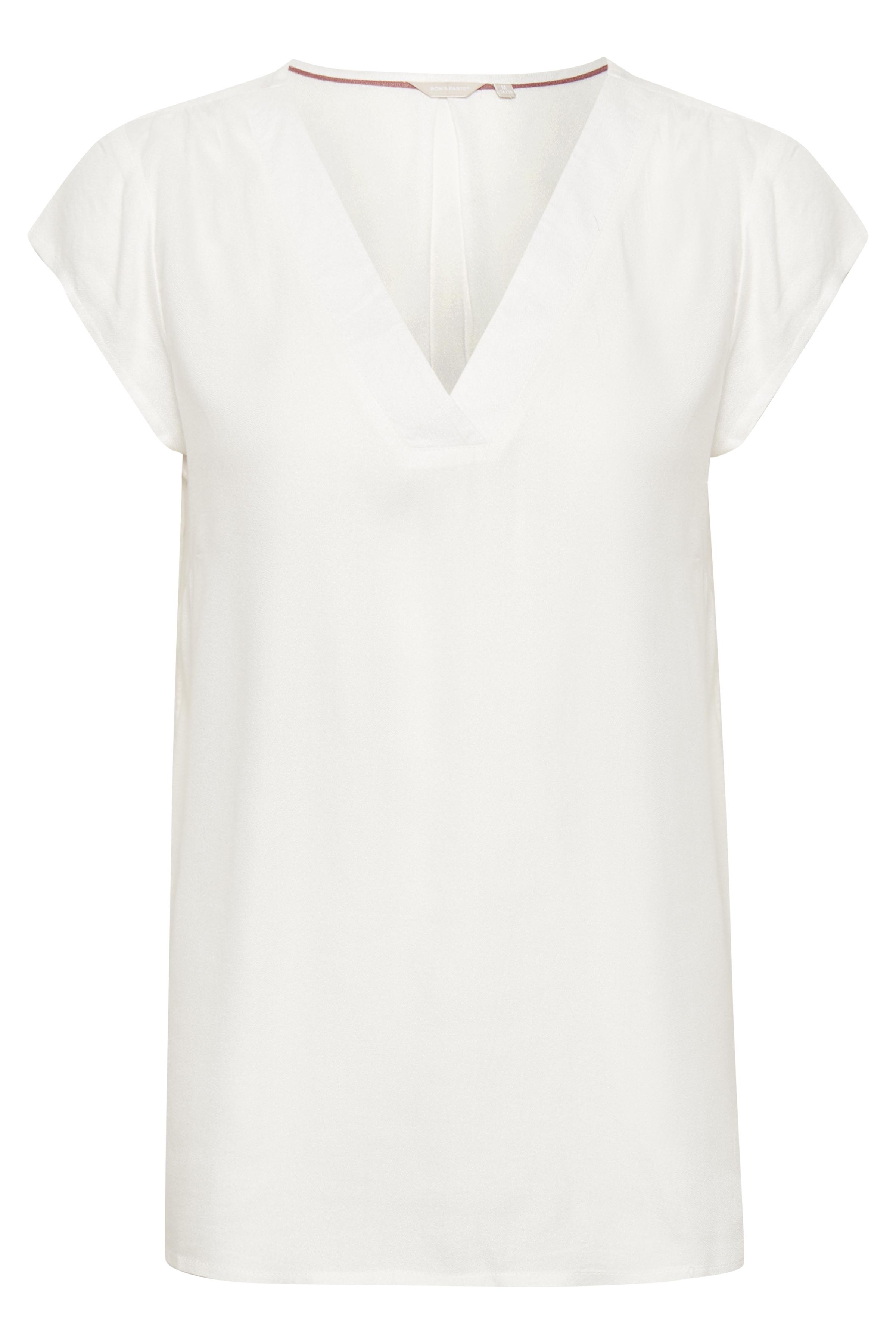 Off-white Korte mouwen shirt  van Bon'A Parte – Door Off-white Korte mouwen shirt  van maat. S-2XL hier