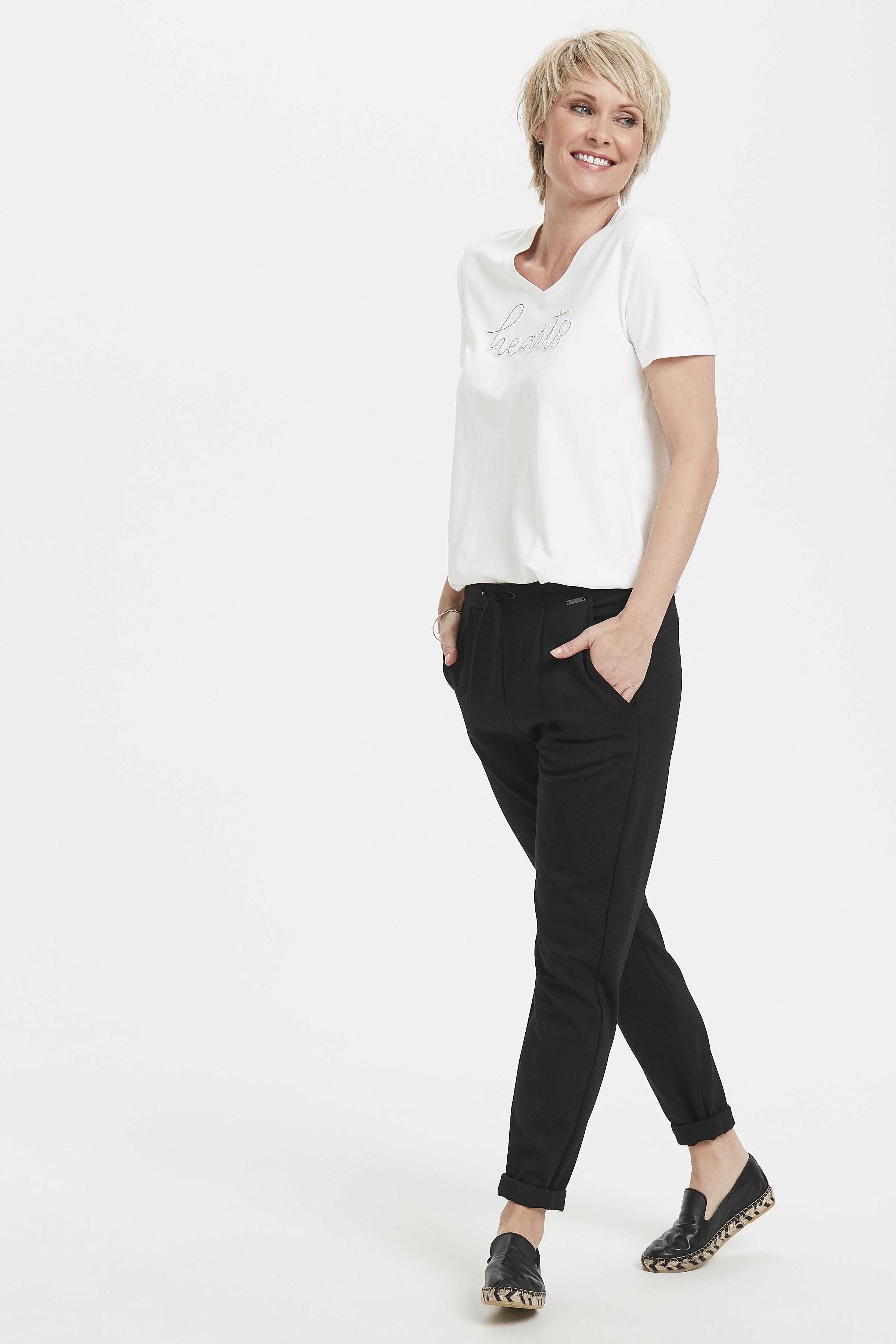 Off-white Korte mouwen T-shirt  van Bon'A Parte – Door Off-white Korte mouwen T-shirt  van maat. S-2XL hier