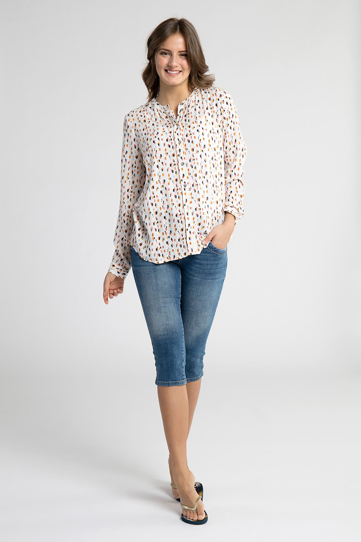 Off-white Långärmad skjorta från Kaffe – Köp Off-white Långärmad skjorta från stl. 34-46 här