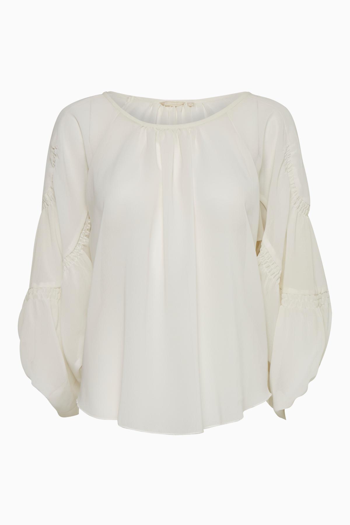 Image of BonA Parte Dame Langærmet bluse - Off-white