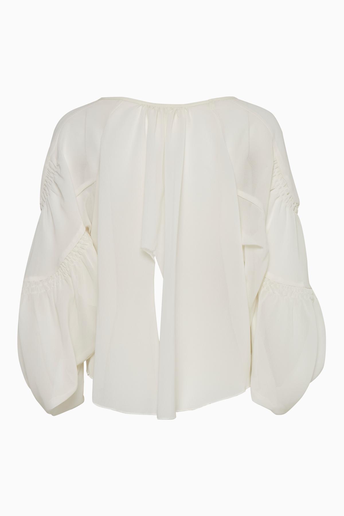 Off-white Langærmet bluse fra Bon'A Parte – Køb Off-white Langærmet bluse fra str. S-3XL her